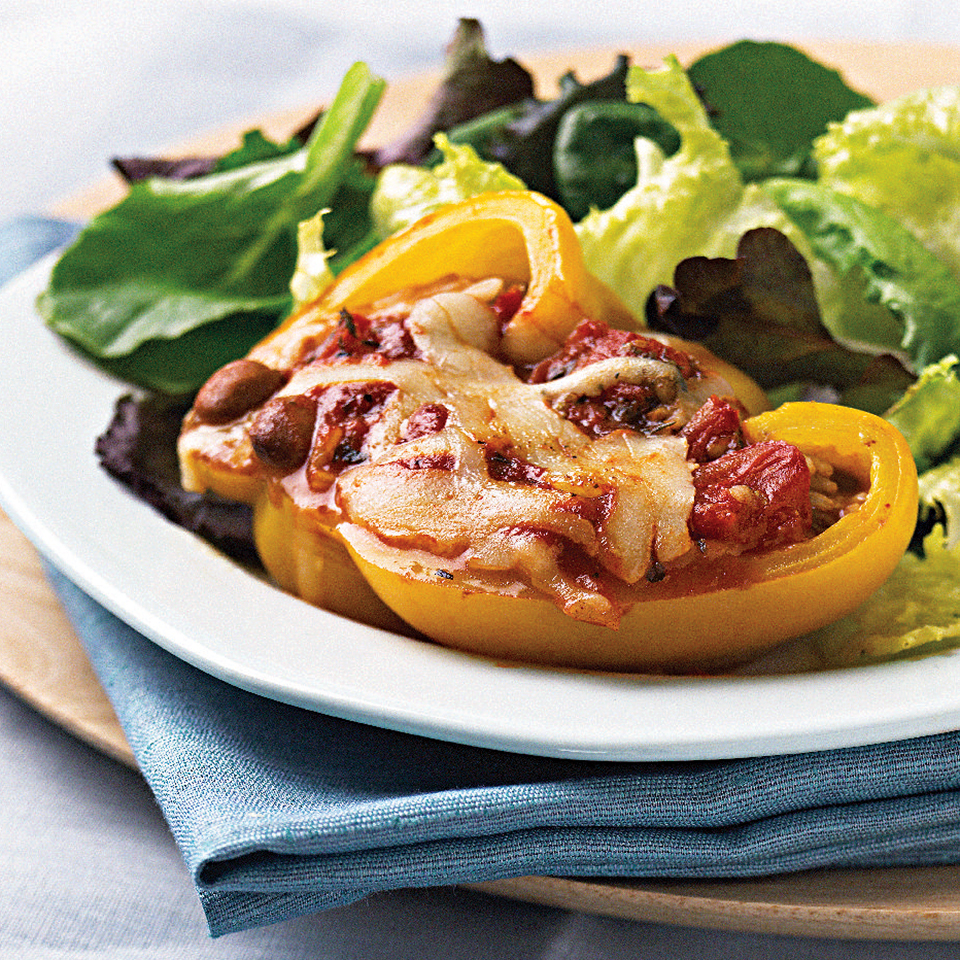 Chili Bean-Stuffed Peppers Diabetic Living Magazine