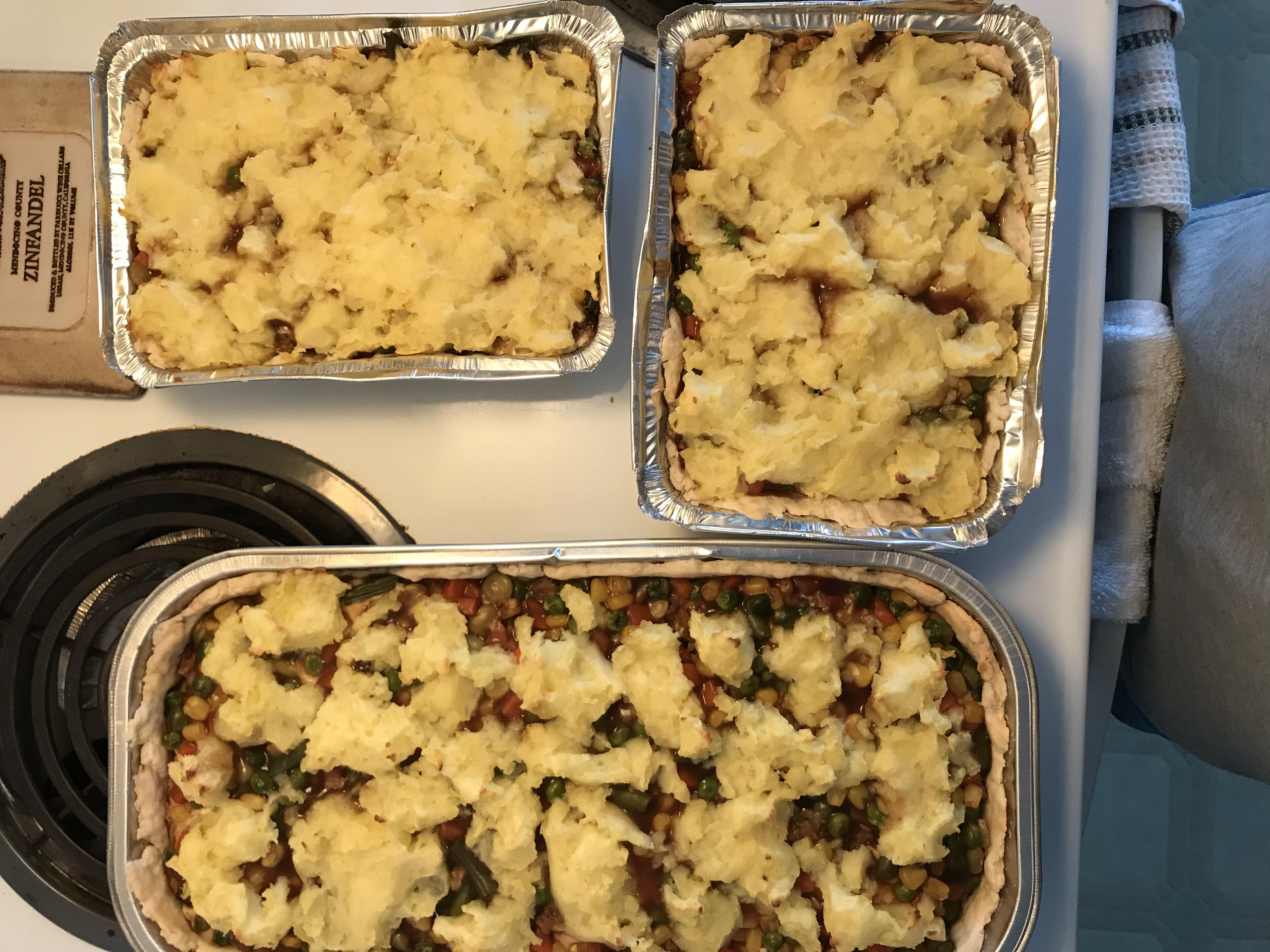 Mashed Potato-Topped Turkey Pot Pie Justeatit