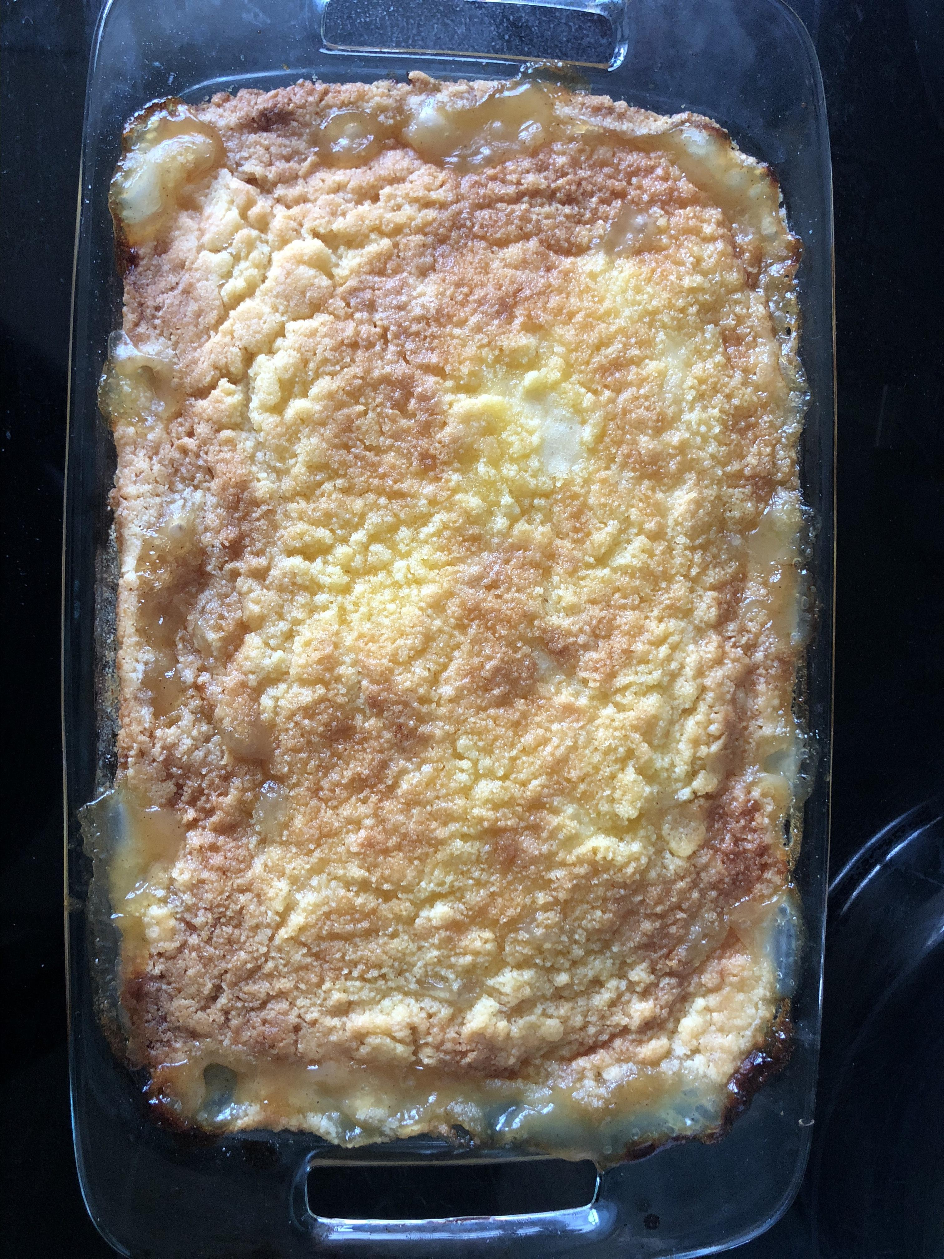 Peach Cobbler Dump Cake I beauteousrose