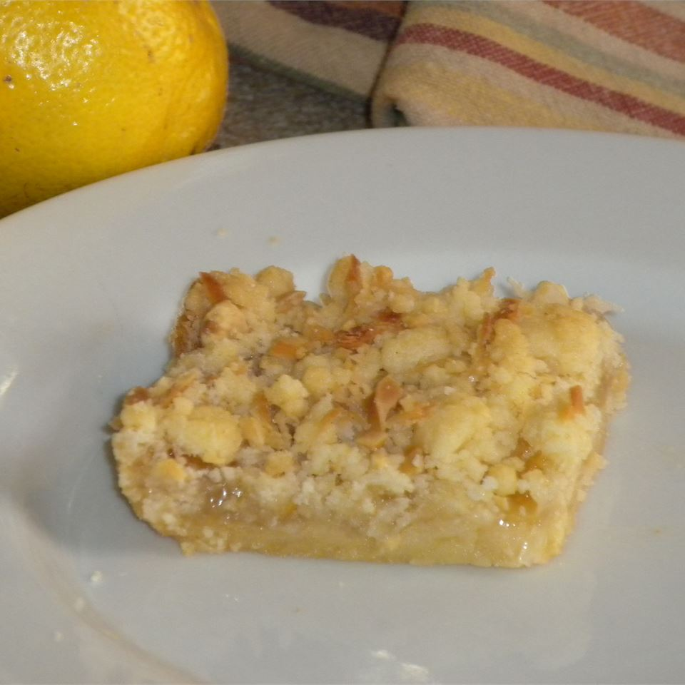 Lemon Curd Bars with Coconut