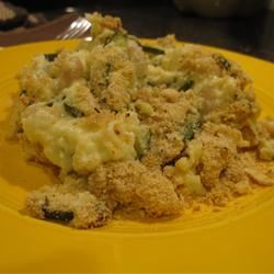 Zucchini Casserole with Cracker Crust