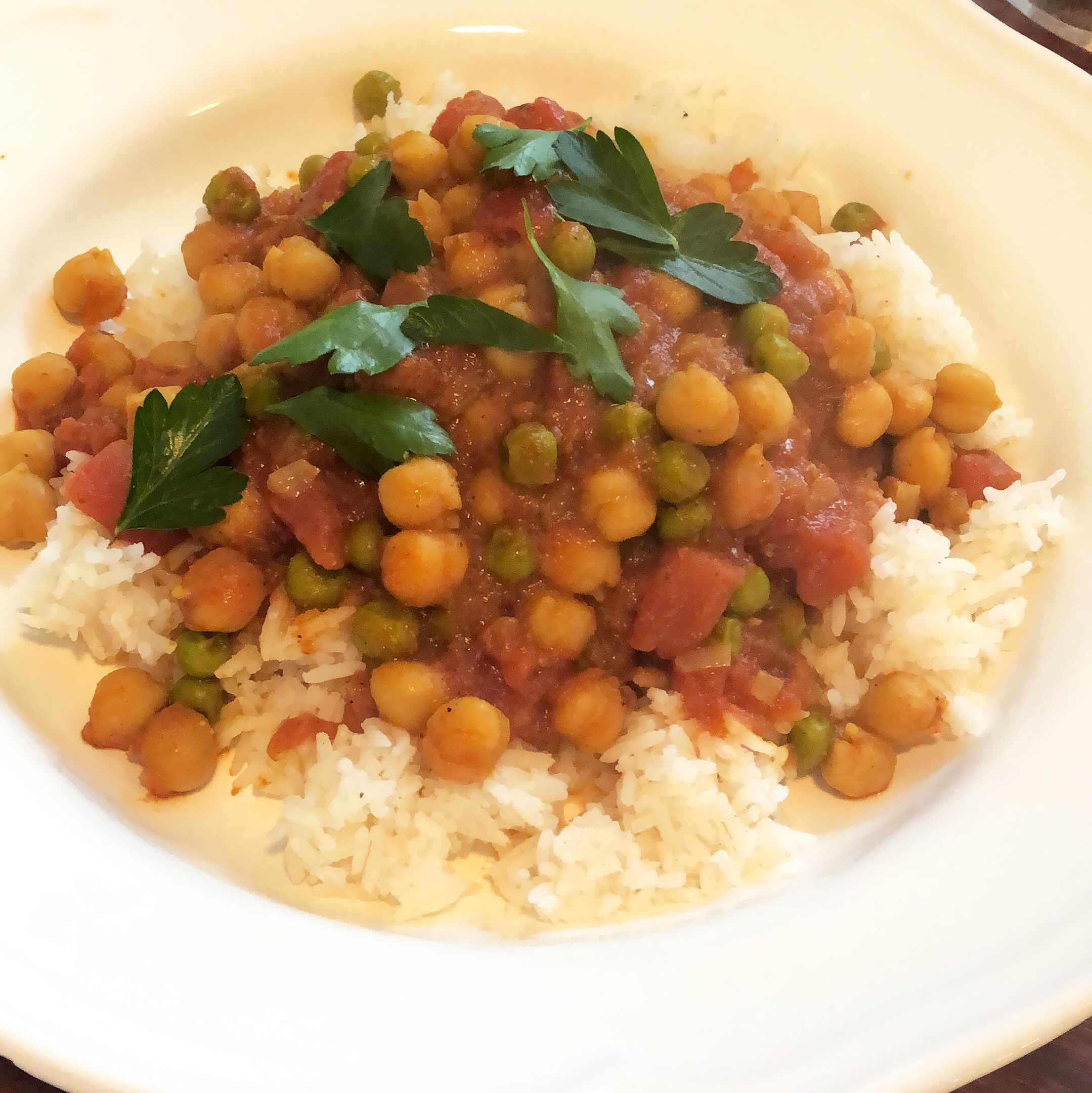 Sweet Potato and Chickpea Masala
