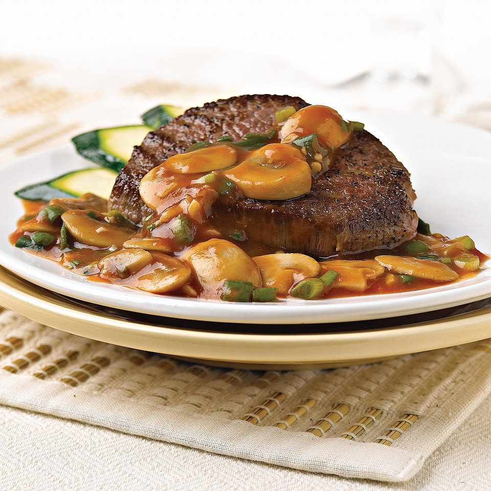 Beef with Mushroom Sauce Diabetic Living Magazine
