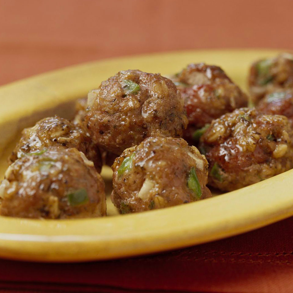 Save on meal prep time by making a double batch of these delicious meatballs. Freeze them to have on hand for lunches and dinners. Source: Diabetic Living Magazine
