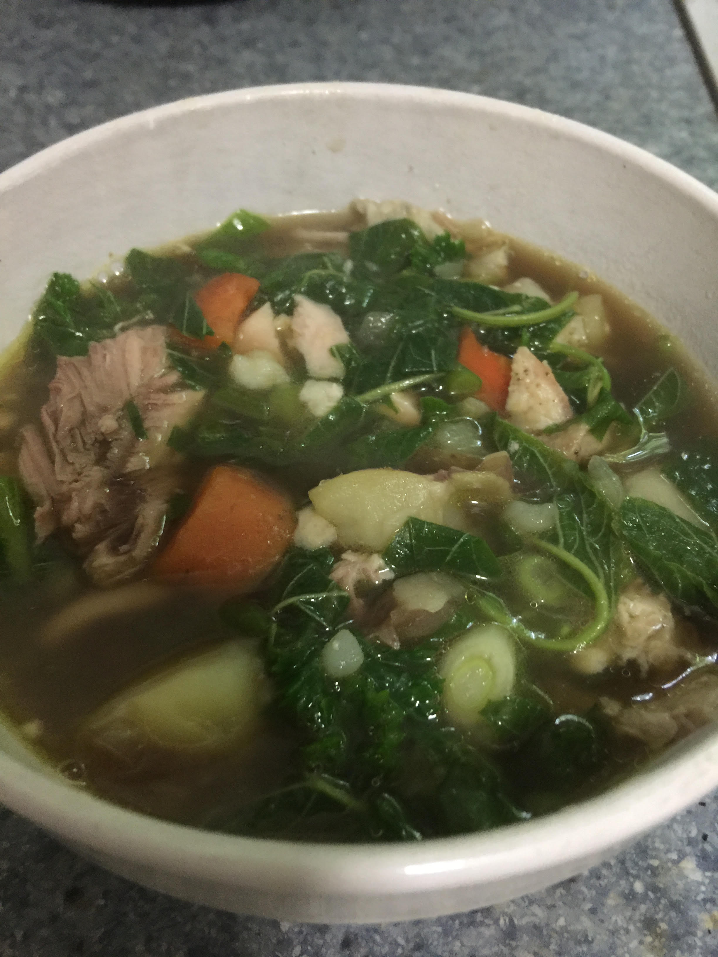 Green Amaranth and Chicken Soup Kathy Zalinski Oakford