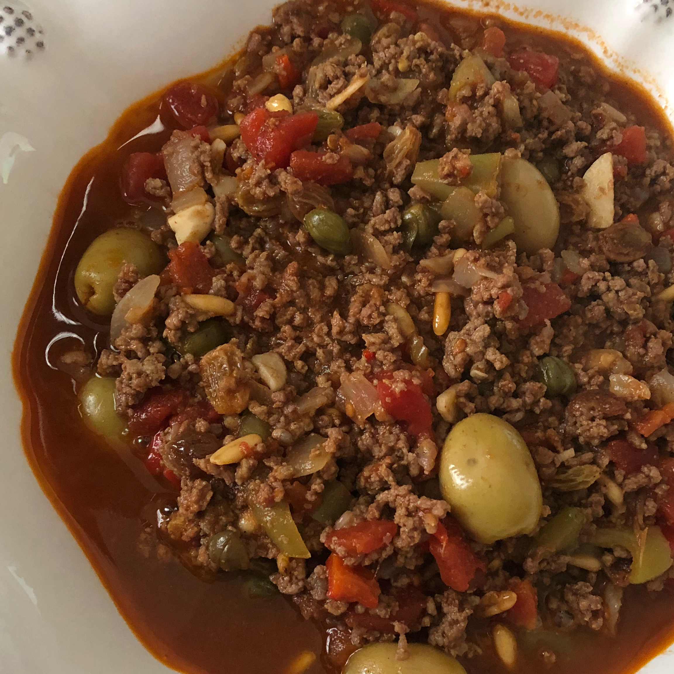 "Chorizo sausage and ground beef are browned, and then simmered with tomatoes and spices. Serve like chili or like a sloppy Joe over rolls or cornbread. ""YUM! My mouth just burst with all the complex flavors and textures,"" says DOREEN. ""Plan on making next time I have company over."""
