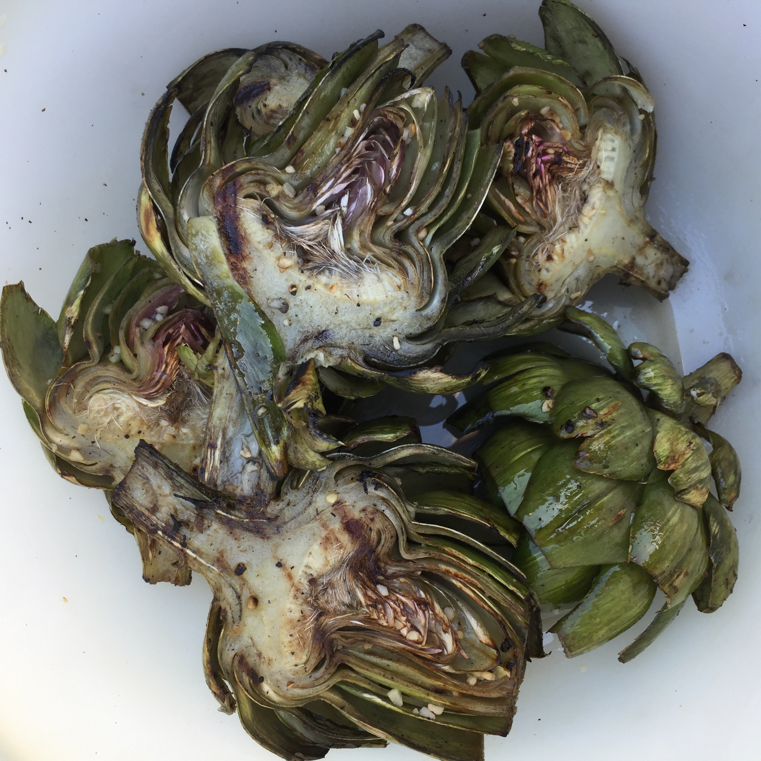 Grilled Garlic Artichokes LaurieM