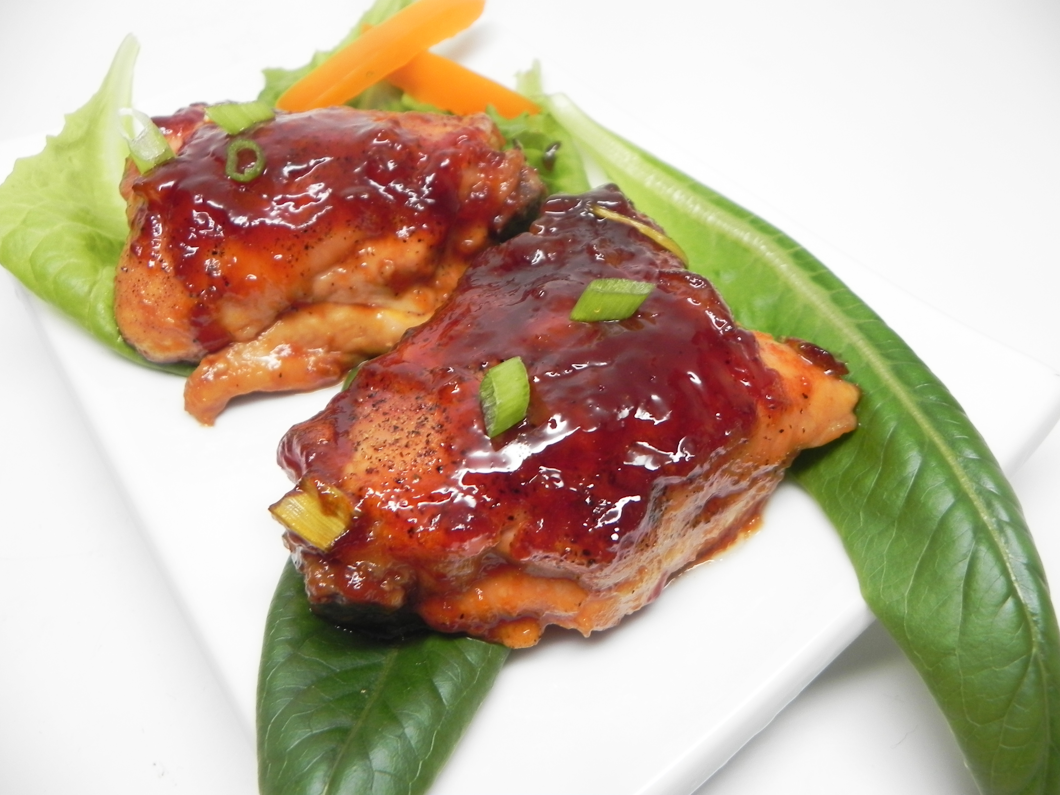For those who love tangy, sweet, sticky chicken dishes, this easy recipe is a must try. Apricot jam forms the base for a super sauce, embellished with a little ketchup and BBQ sauce for good measure. Kids love these chicken thighs, of course, but rest assured — the whole family will be asking for more!