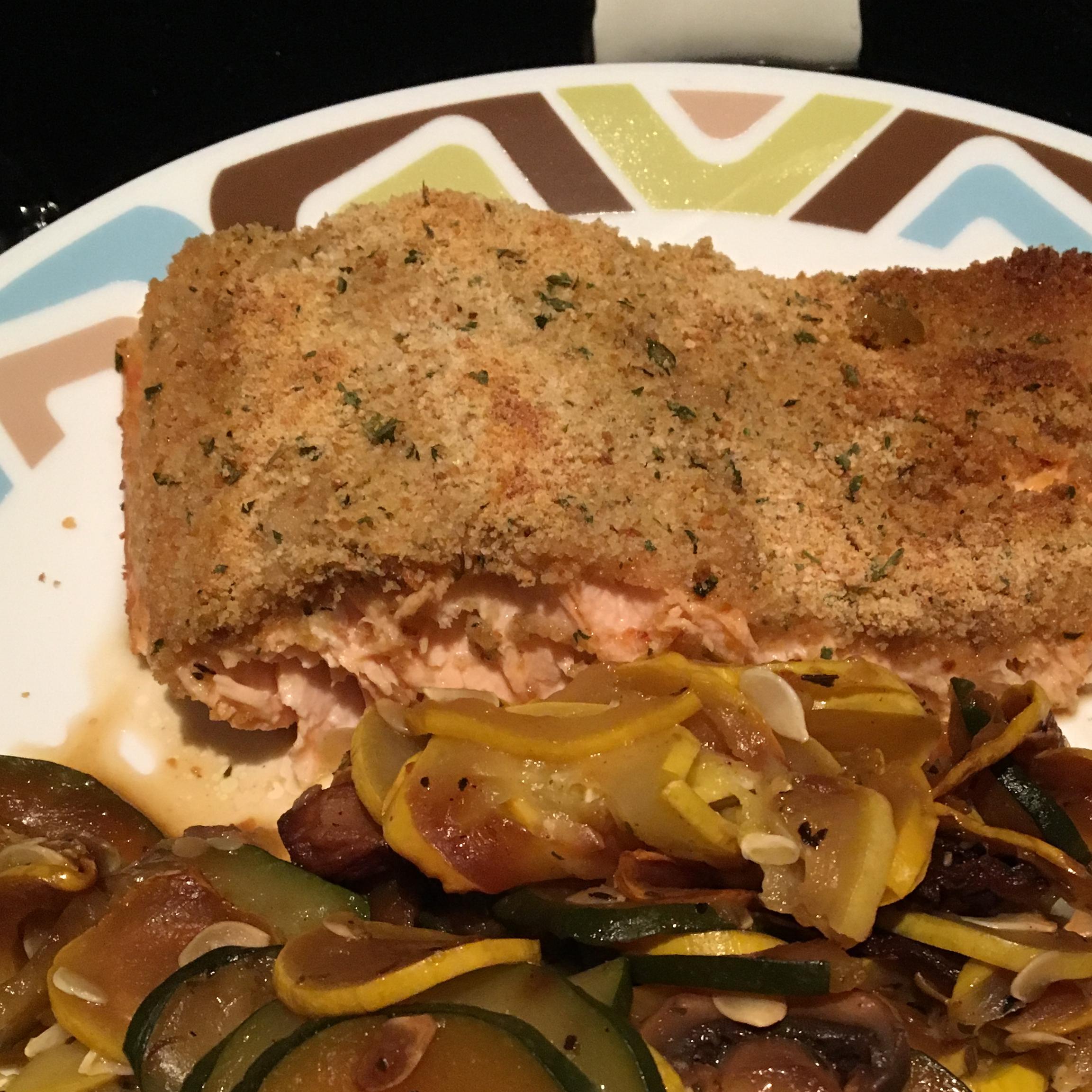 Baked Dijon Salmon ImNewAtThisCookingStuff