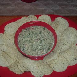 Spicy South of the Border Spinach Cheese Dip WINKY