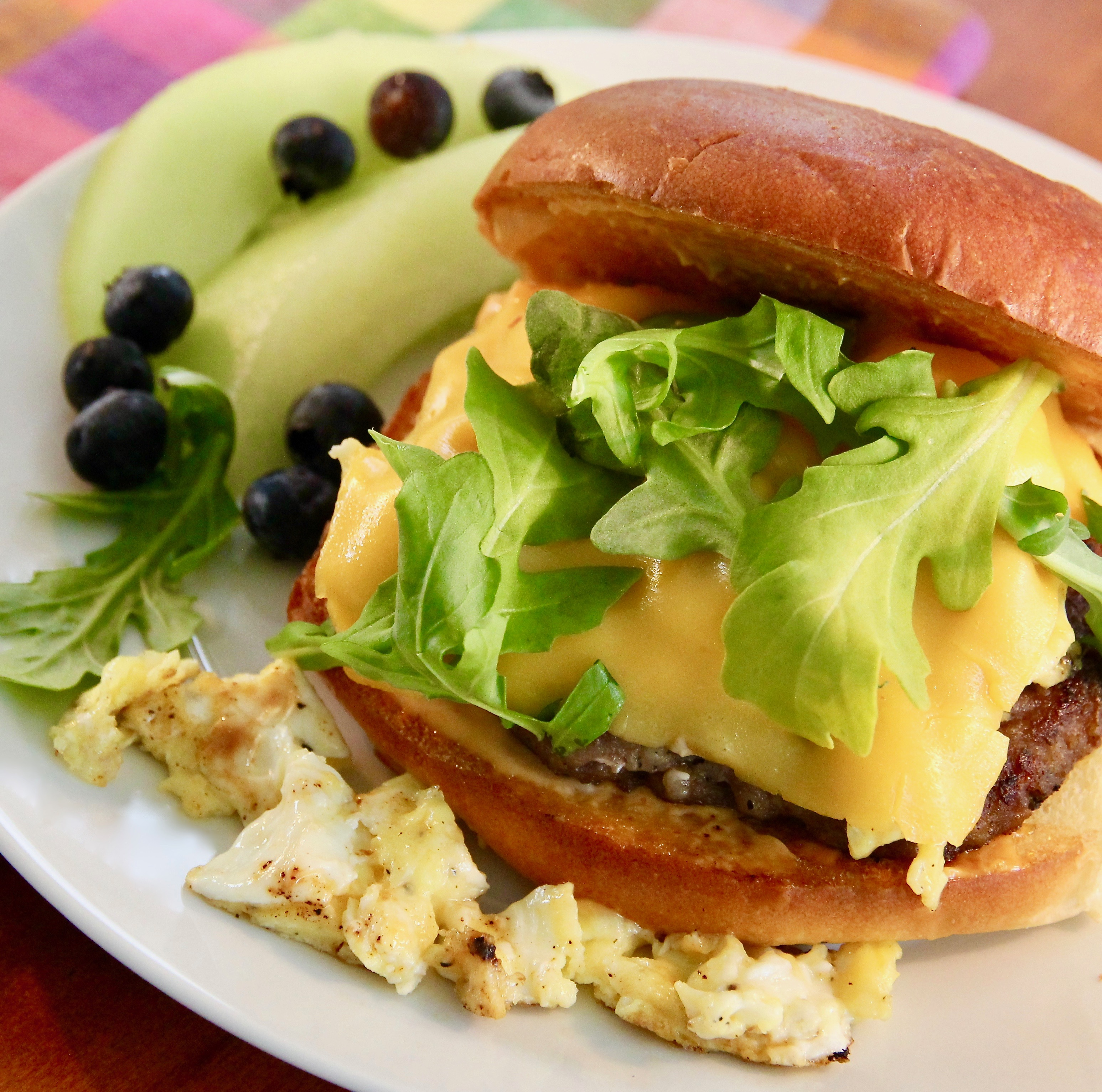 Egg, Sausage and Cheese Breakfast Sandwich