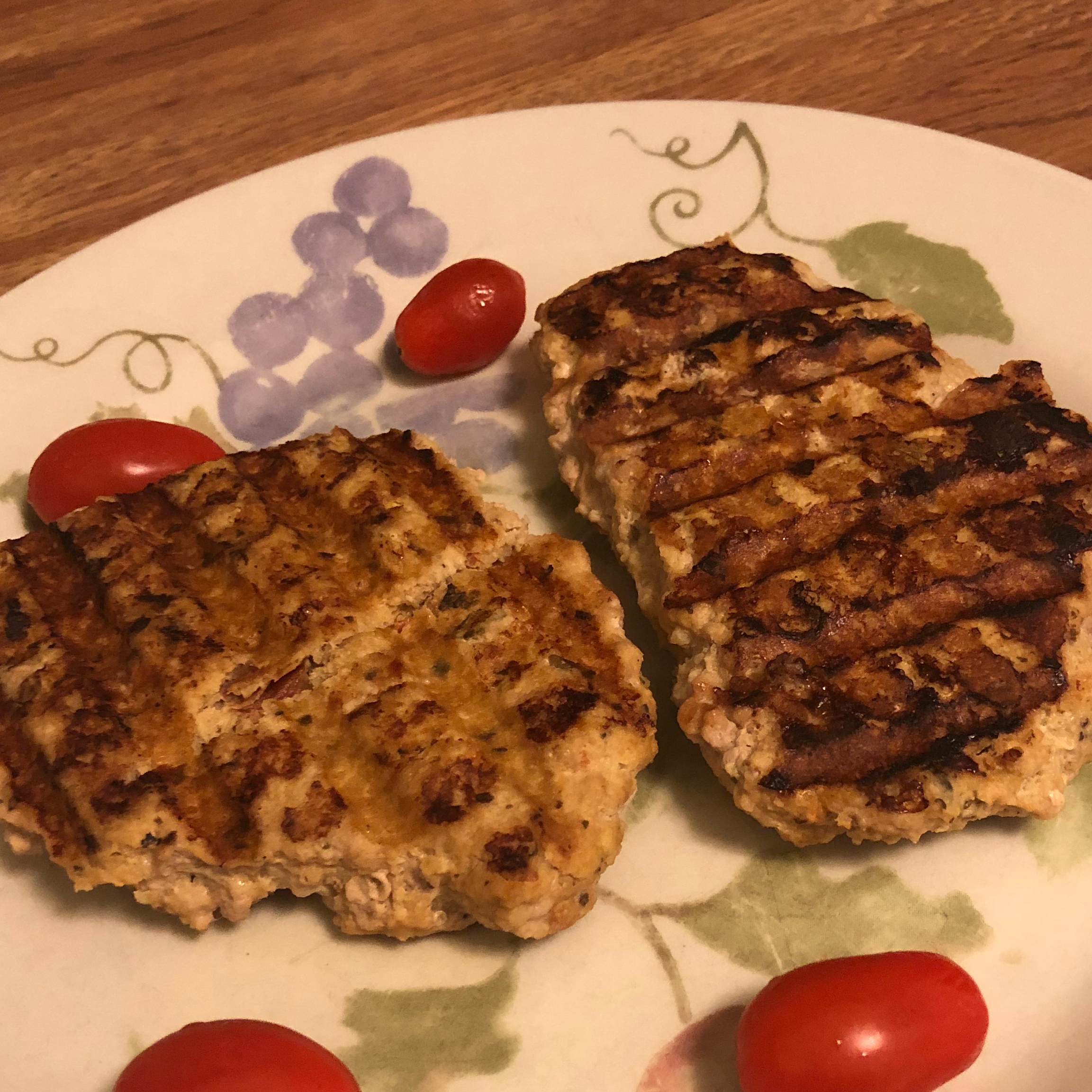 Greek Chicken Burgers with Feta