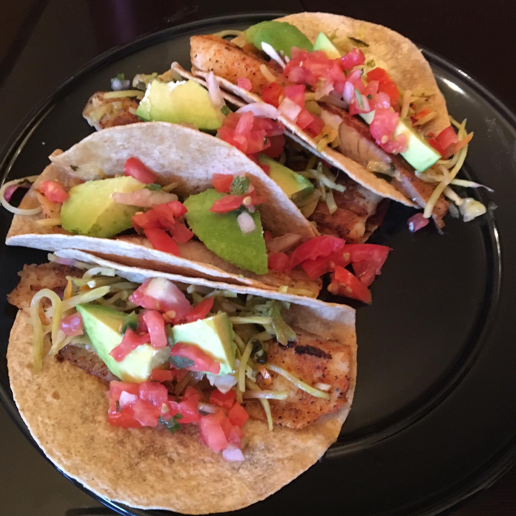 Healthy Fish Tacos with Mango Salsa