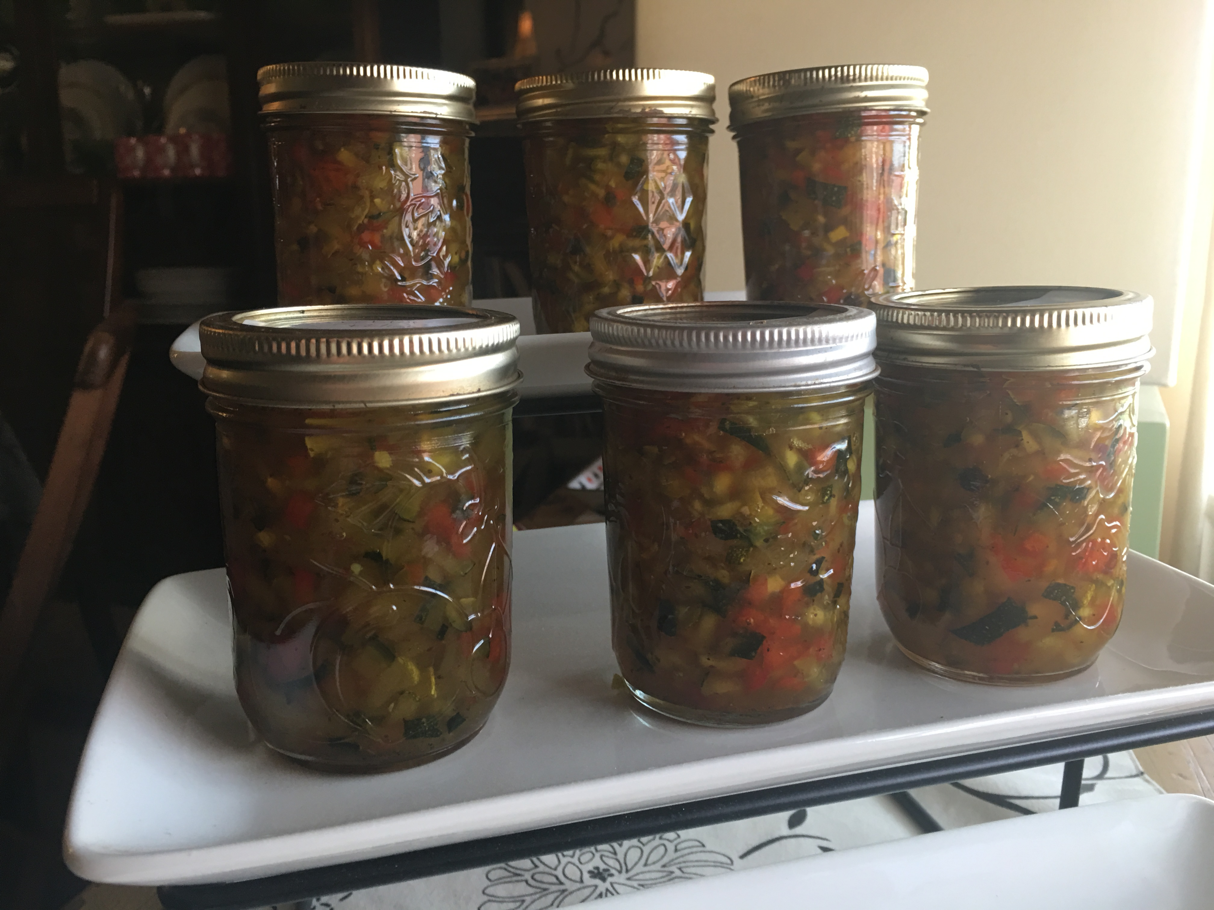 Zucchini Relish with Sweet Peppers