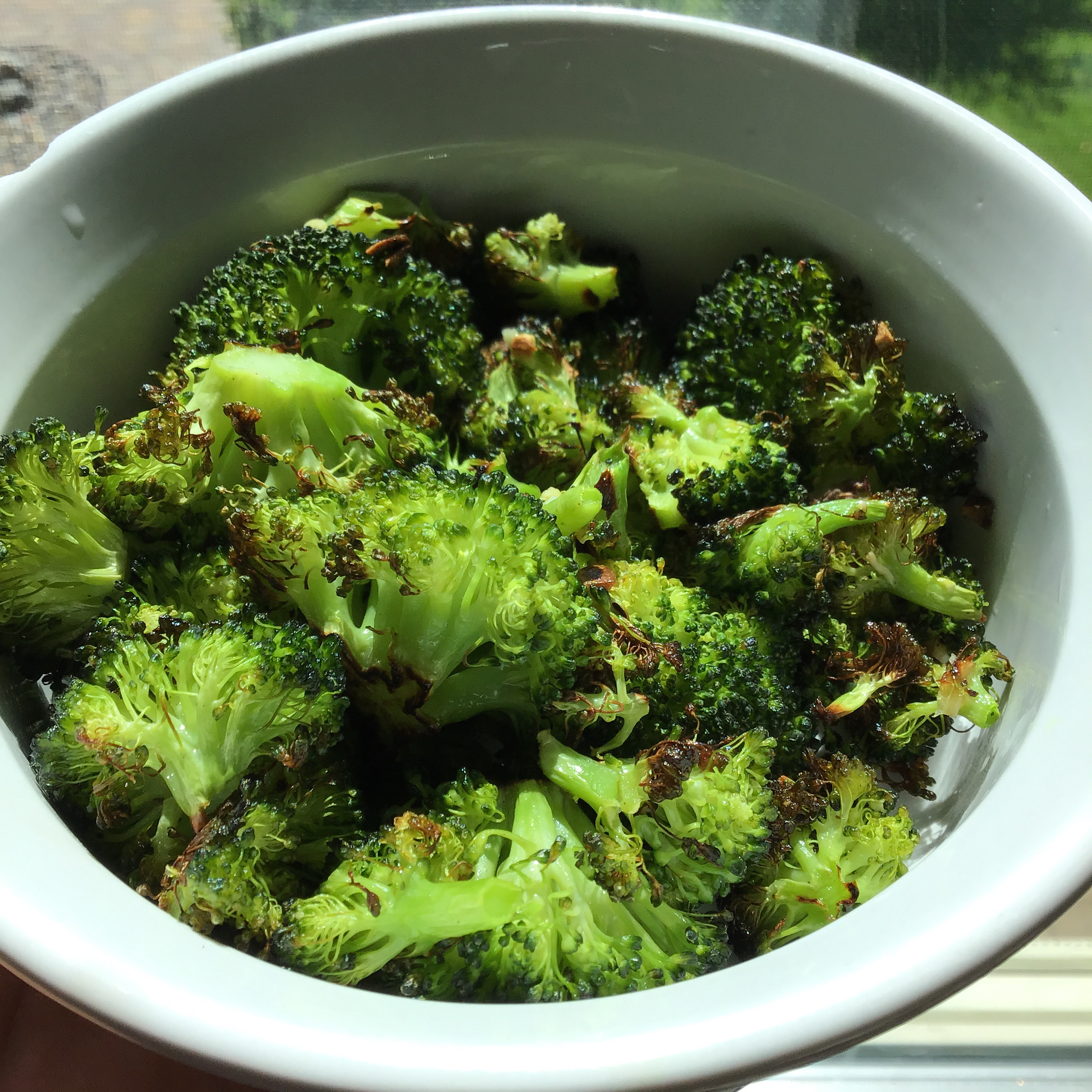 Roasted Garlic Lemon Broccoli jewels