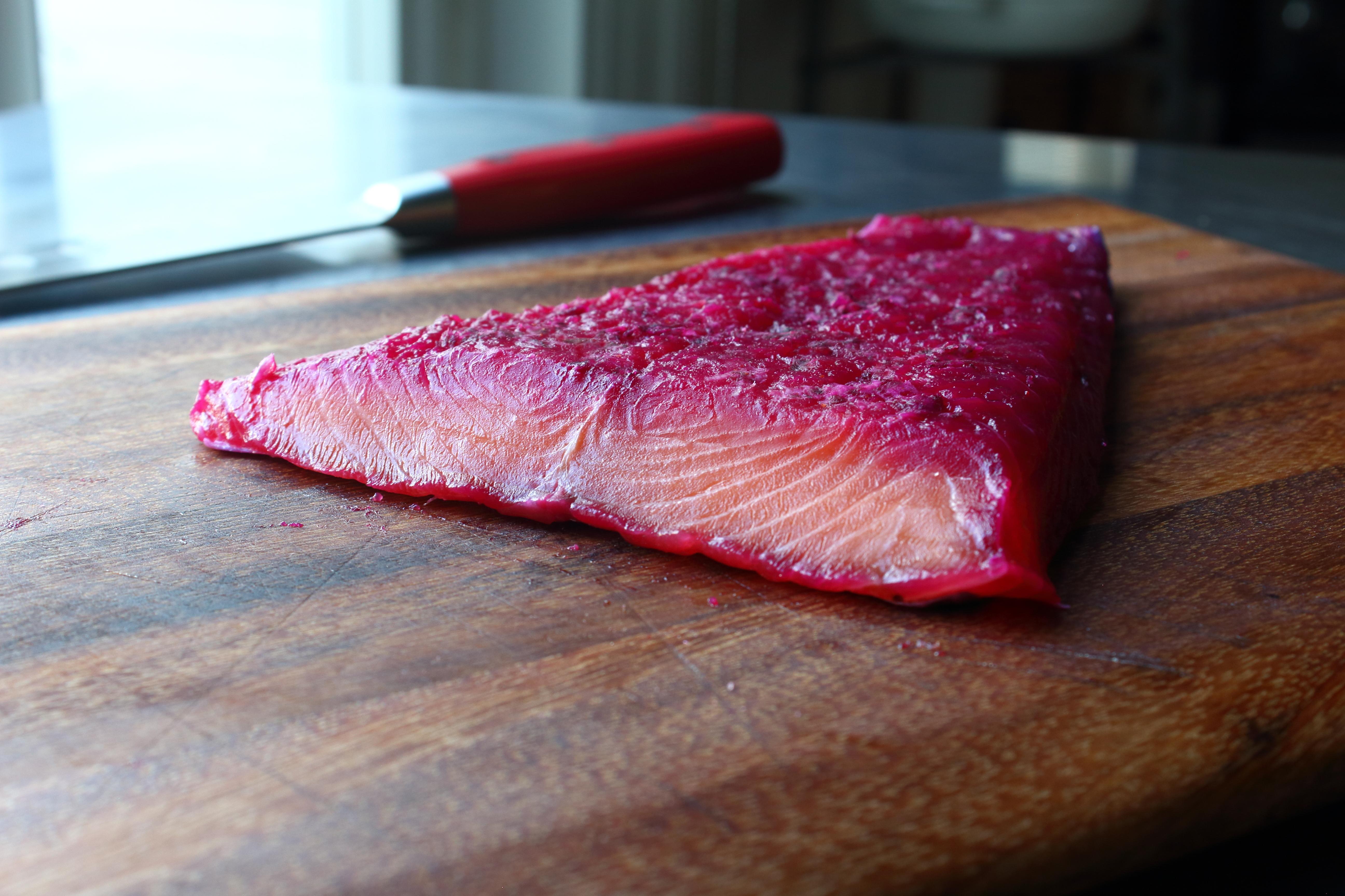 Beet-Cured Salmon Gravlax Chef John