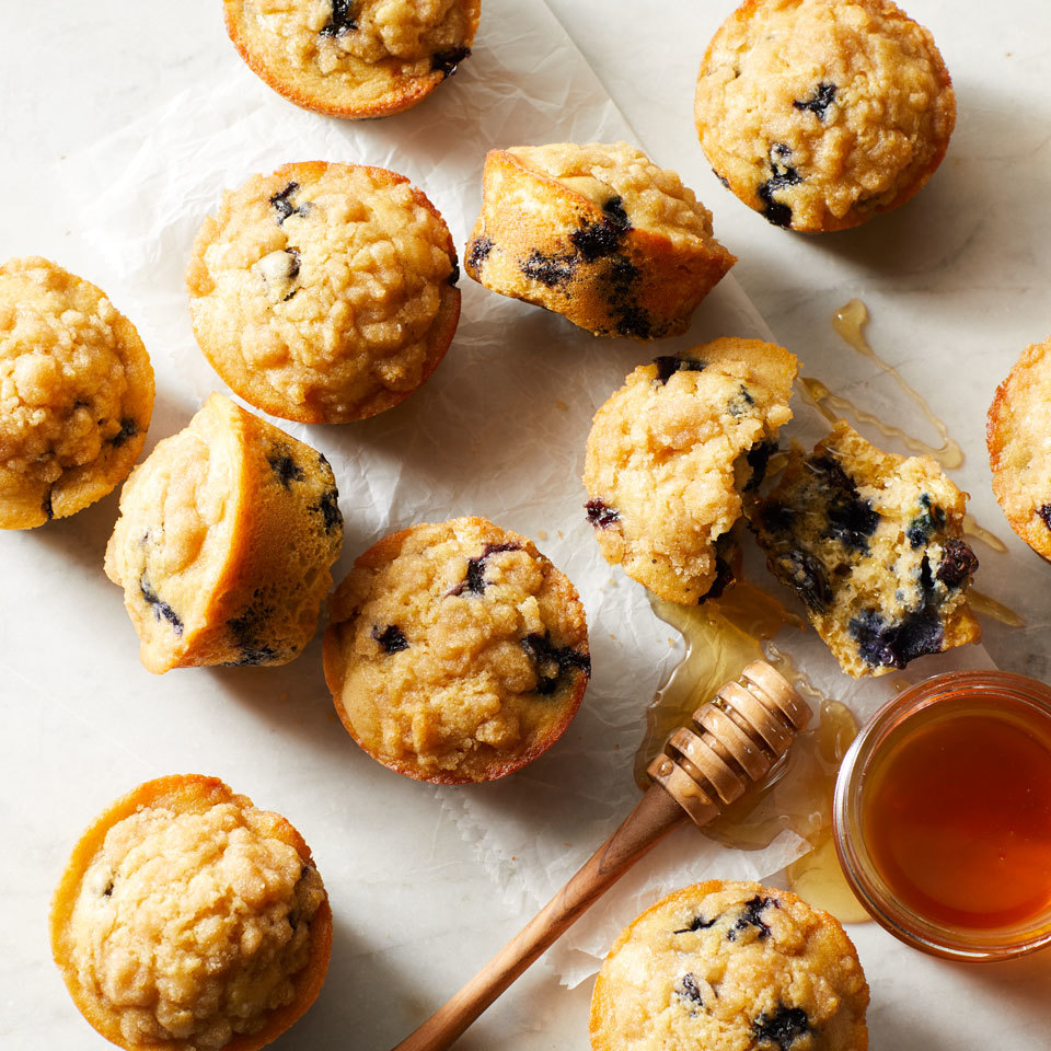 Blueberry-Lemon Crumb Muffins Trusted Brands