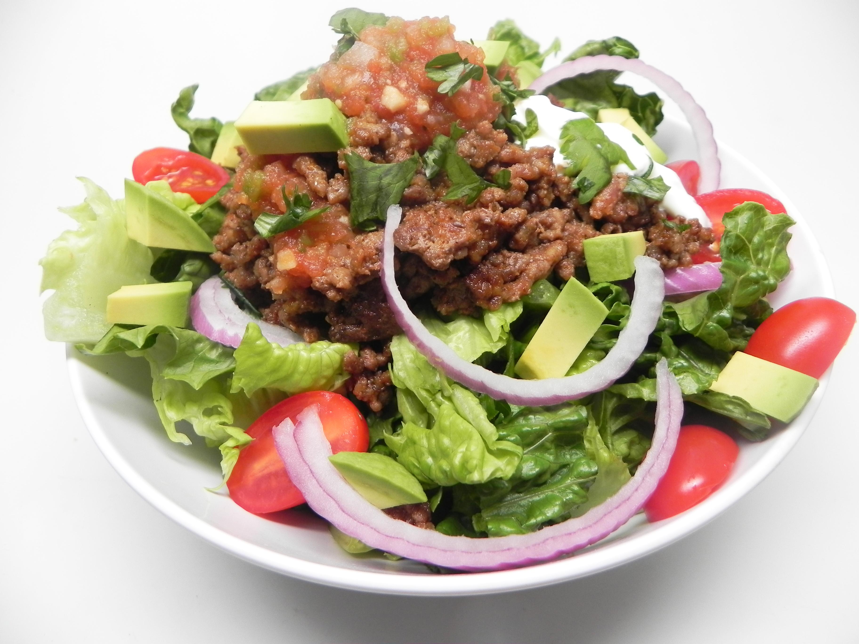 Easy Keto Taco Salad Bowl for 2