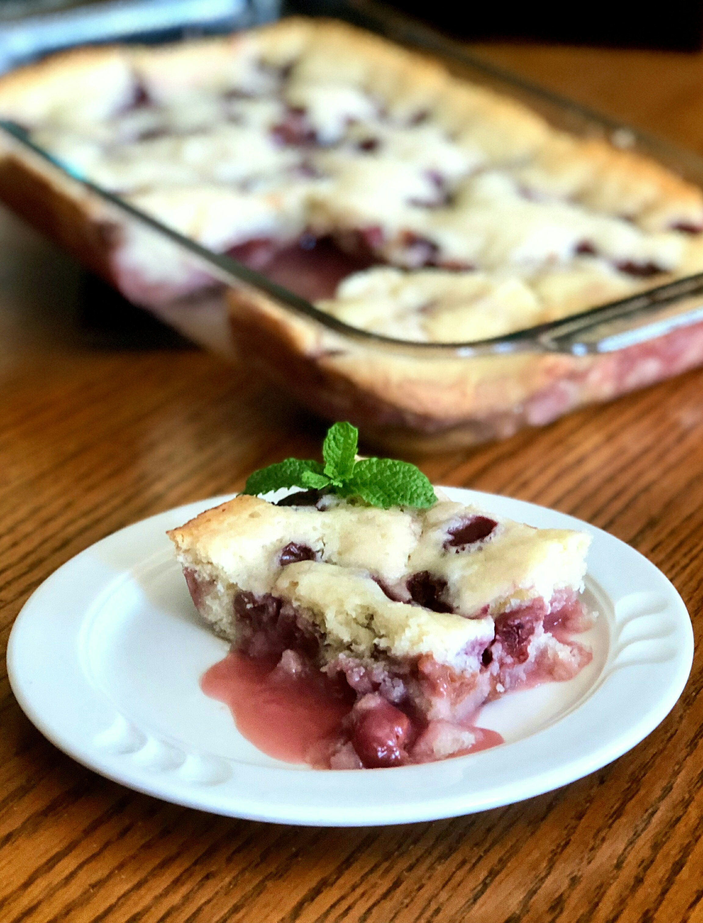Cherry Dump Pudding Cake