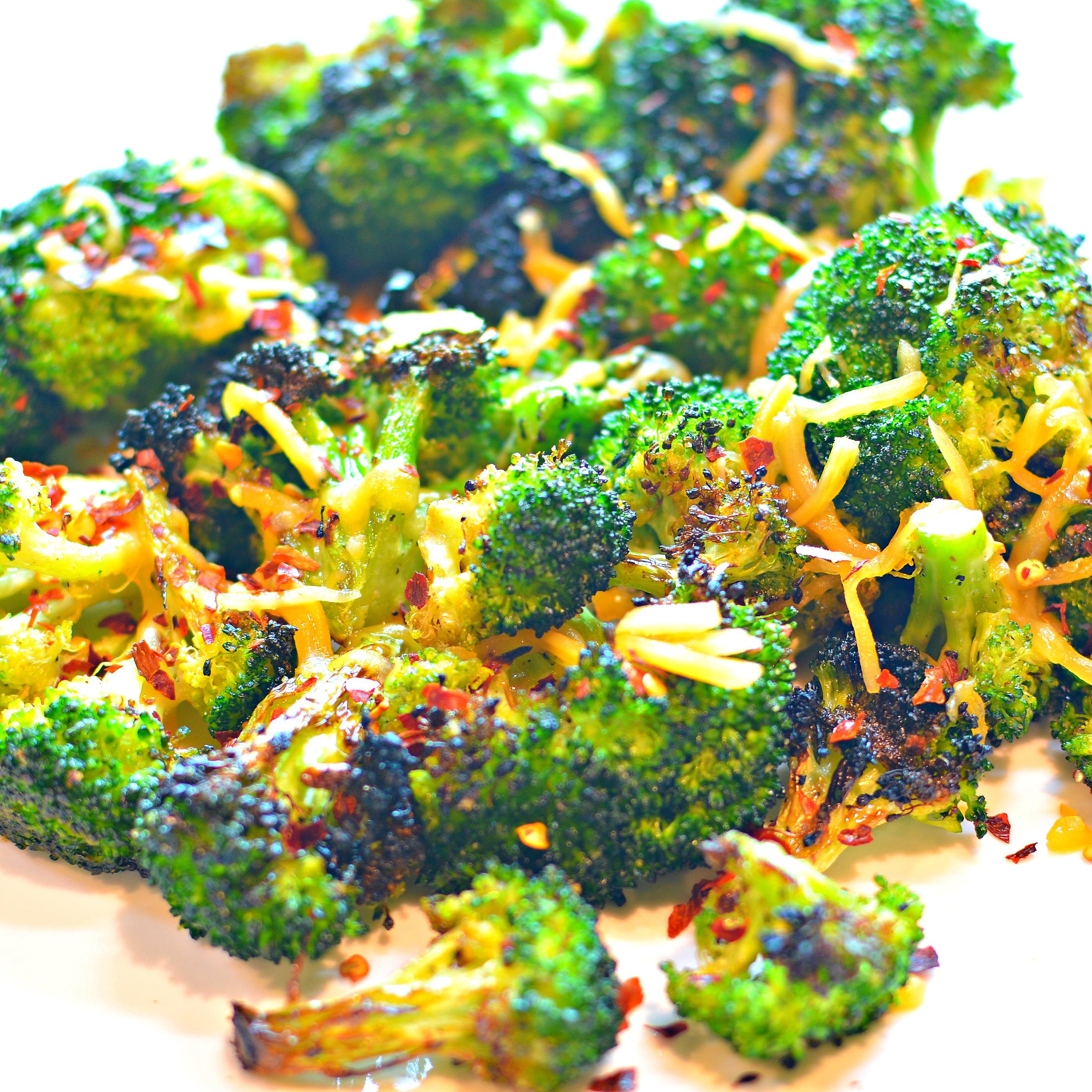 Cheesy Grilled Broccoli