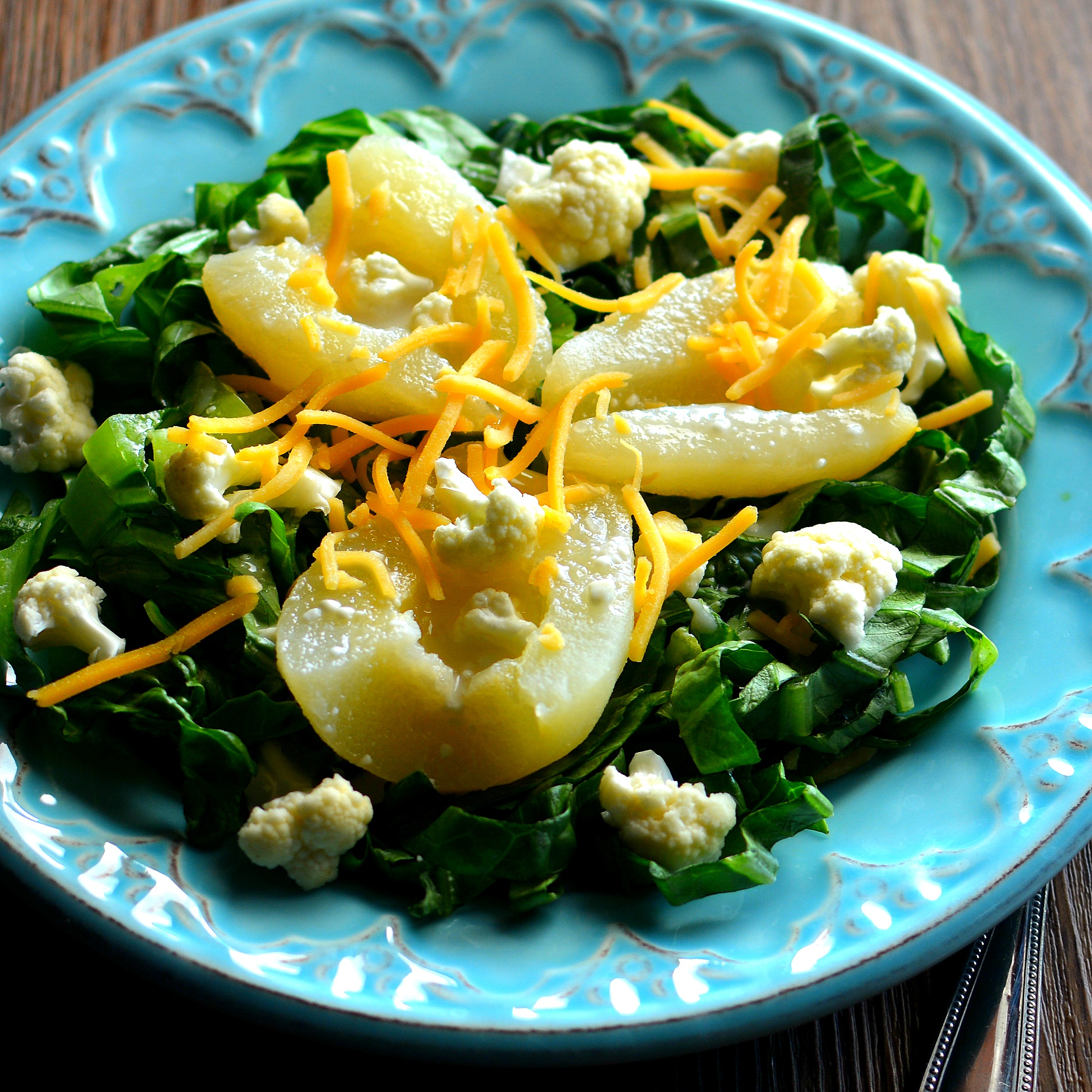 Simple Cauliflower and Pear Salad