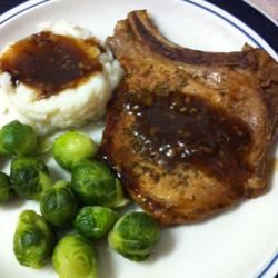 Rosemary and Garlic Simmered Pork Chops