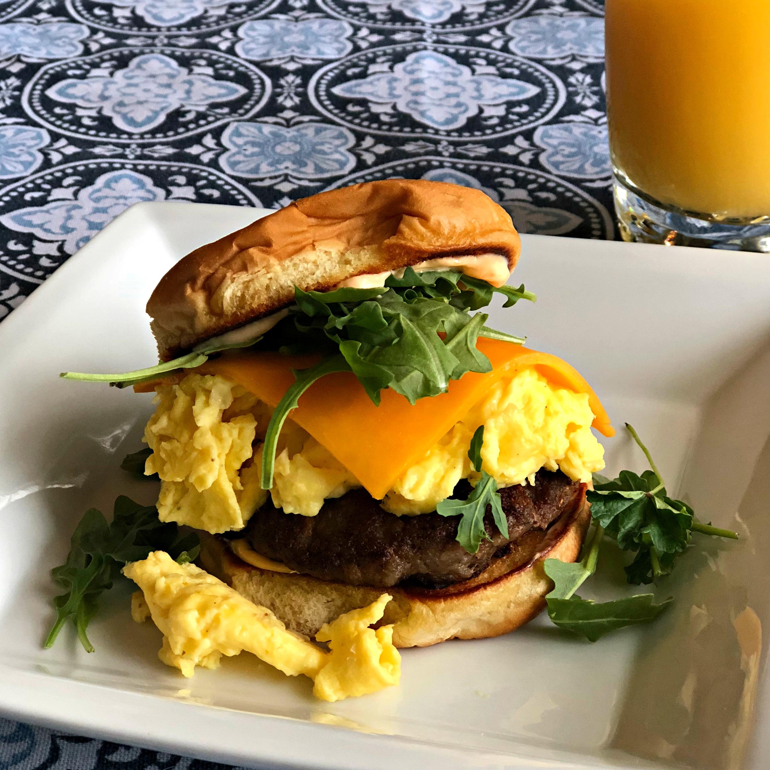 Egg, Sausage and Cheese Breakfast Sandwich Happyschmoopies