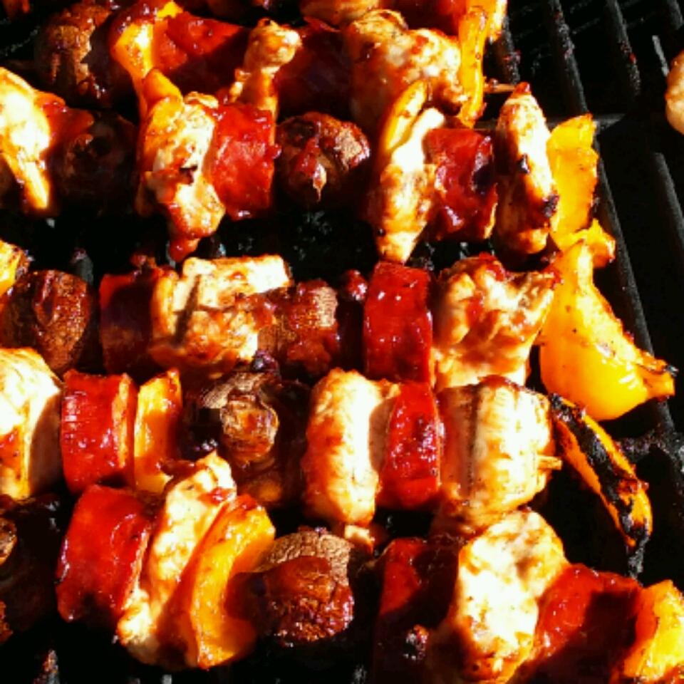 Chorizo and Chicken Skewers michael viveiros