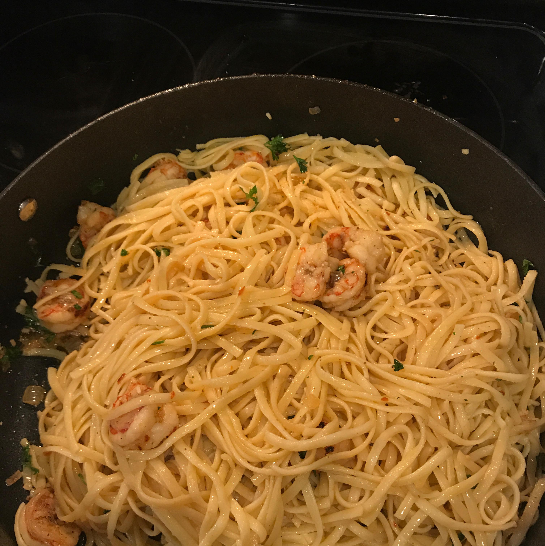 Crayfish or Shrimp Pasta Brant Stock