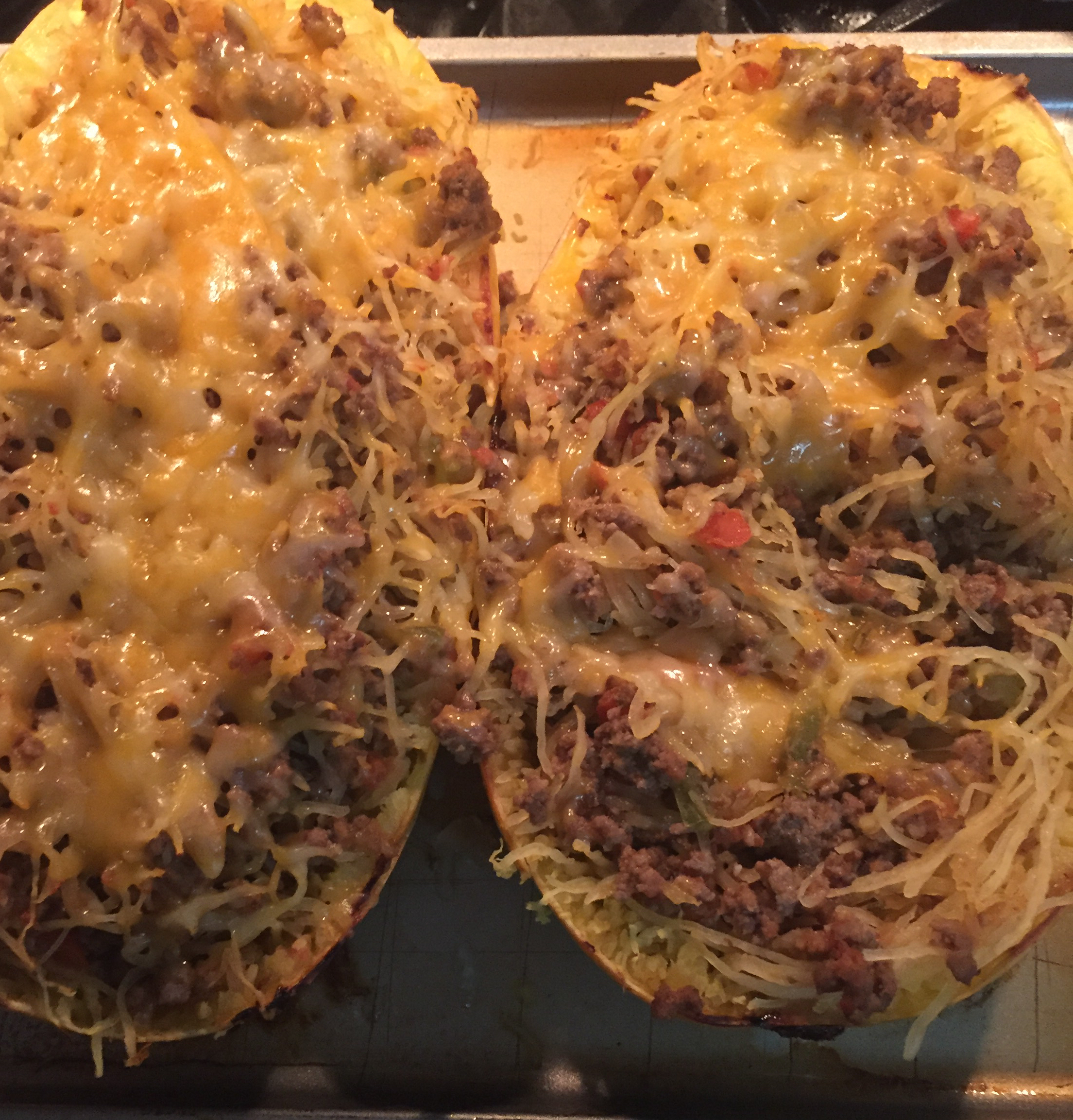 Spaghetti Squash Casserole in the Shell Gelena