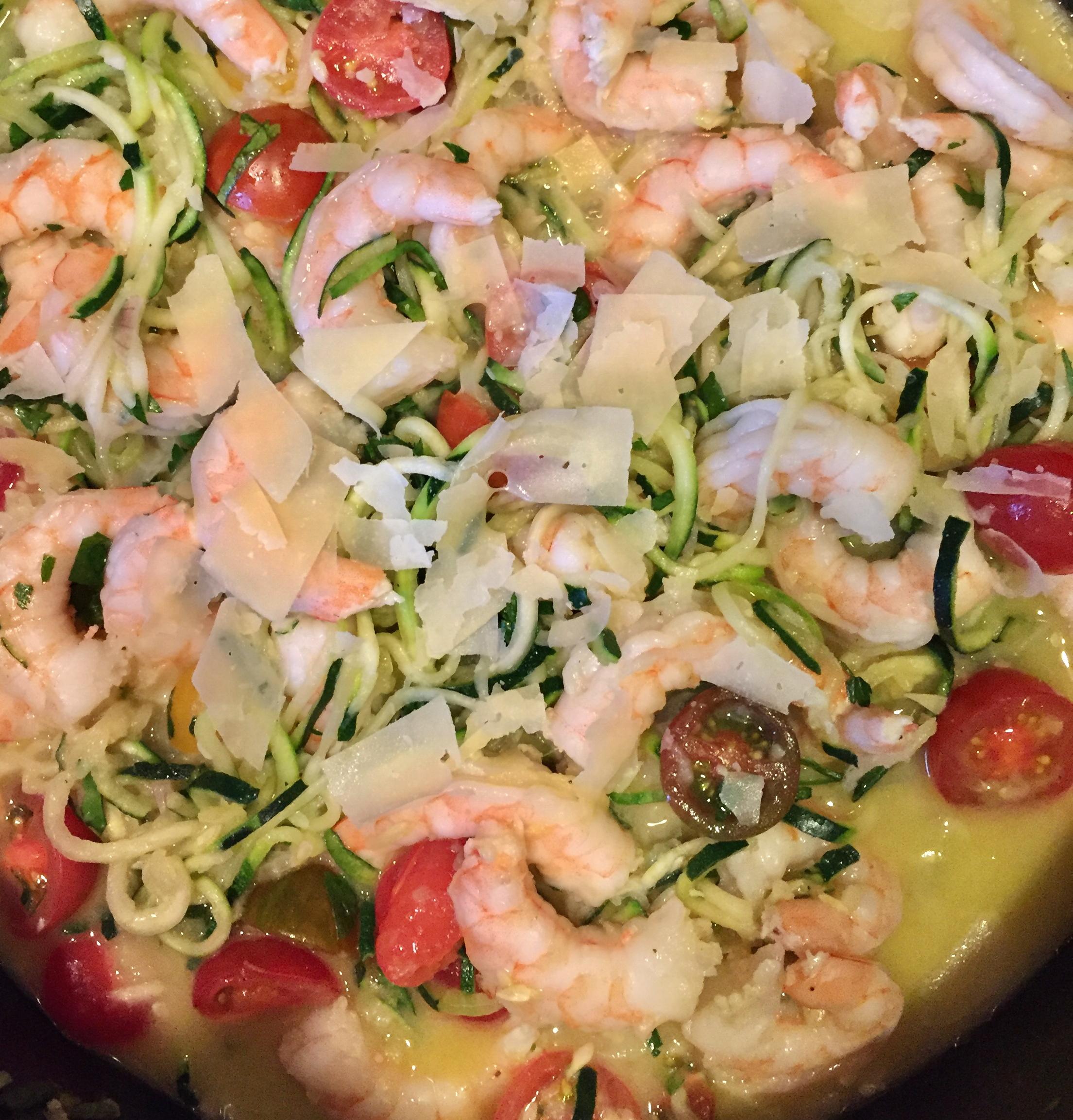 Zucchini Noodle Shrimp Scampi olivia carbone