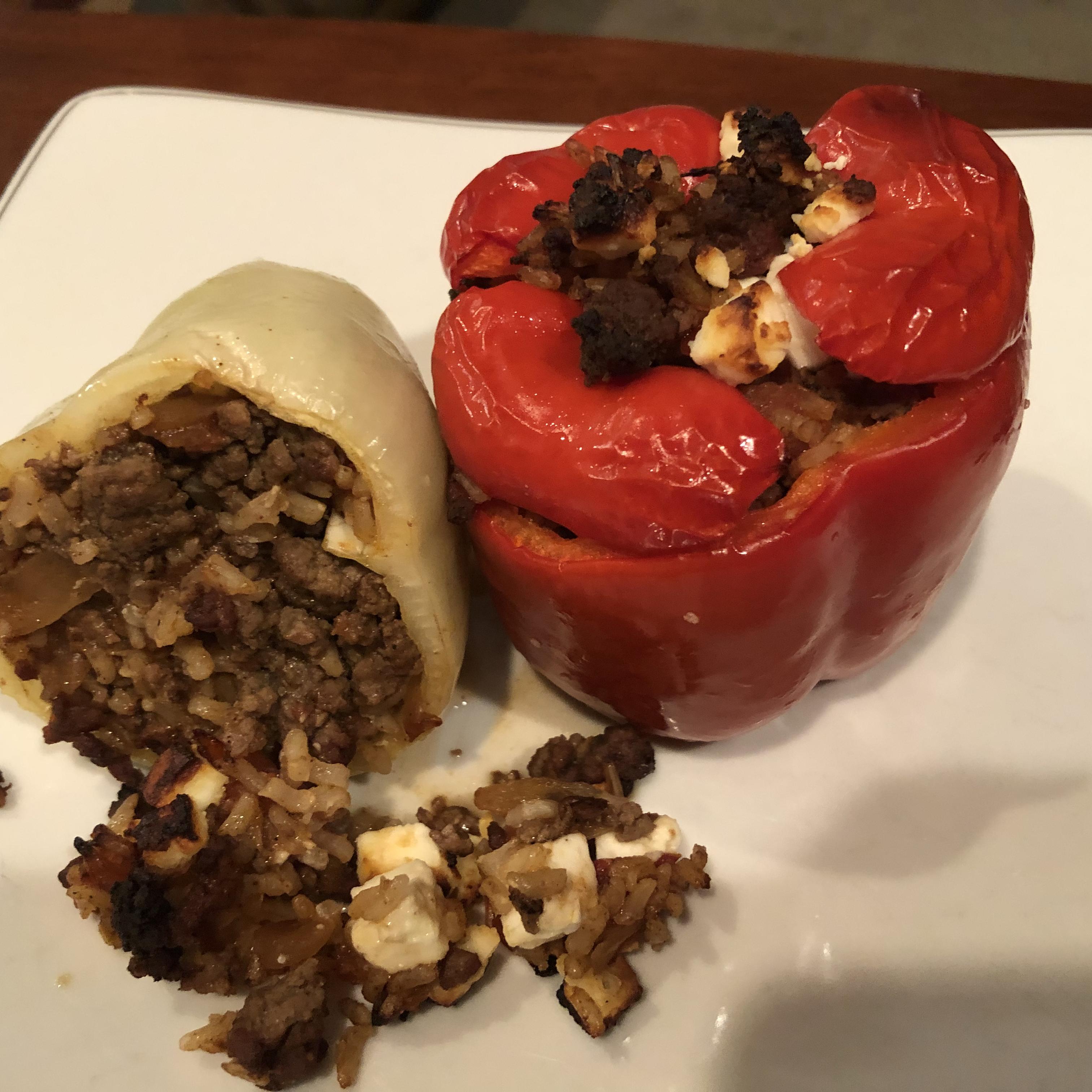 Greek Stuffed Tomatoes and Peppers (Yemista) Tallrific