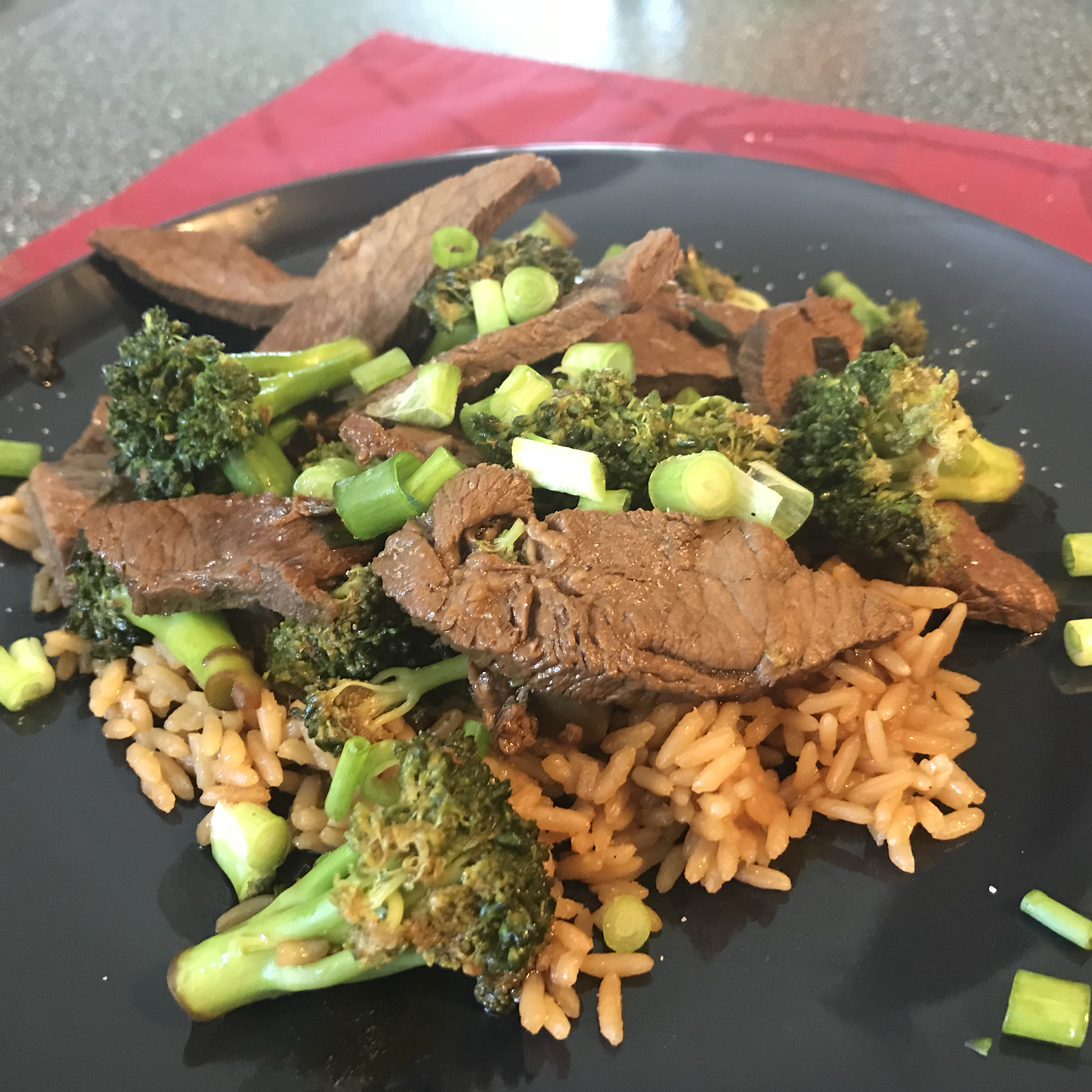 Beef and Broccoli Stir Fry with Whole Grain Brown Rice Rachel Poirier