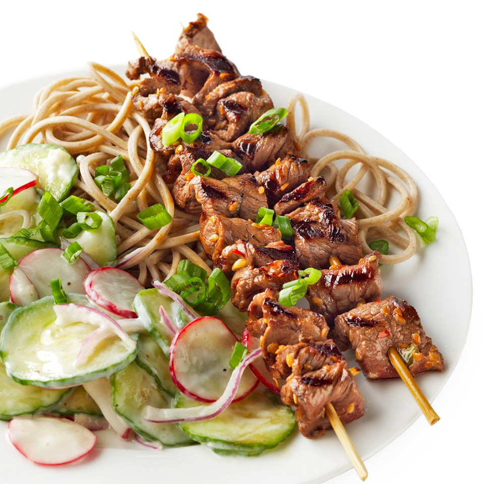 Ginger-Sesame Beef Skewers Diabetic Living Magazine