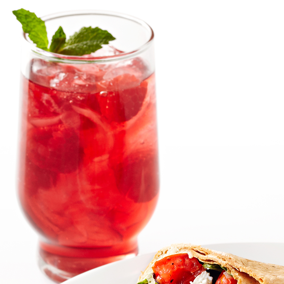 These simple spritzers are made with club soda and cranberry juice which has been infused with mint leaves. Cool and refreshing on a hot summer day!Source: Diabetic Living Magazine