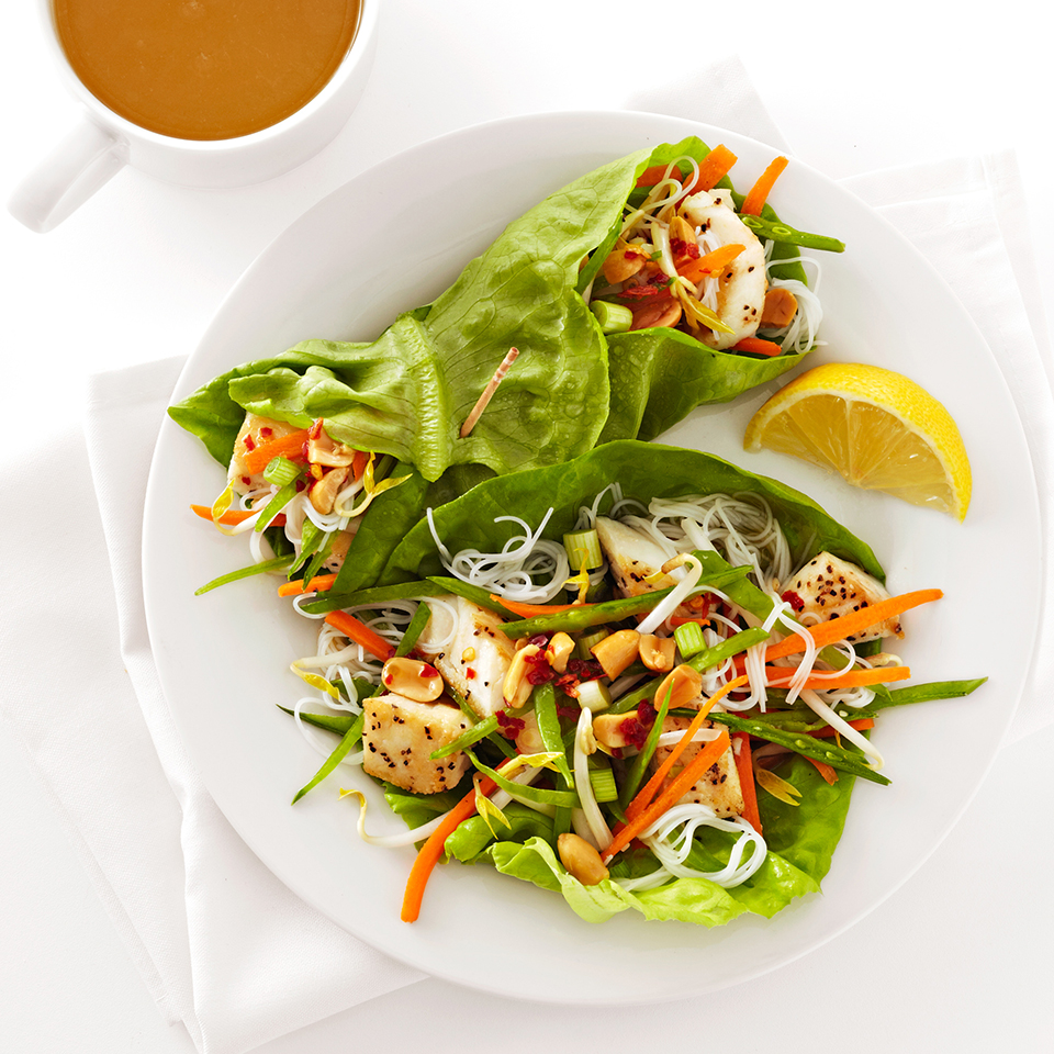 Thai Halibut Lettuce Wraps Diabetic Living Magazine