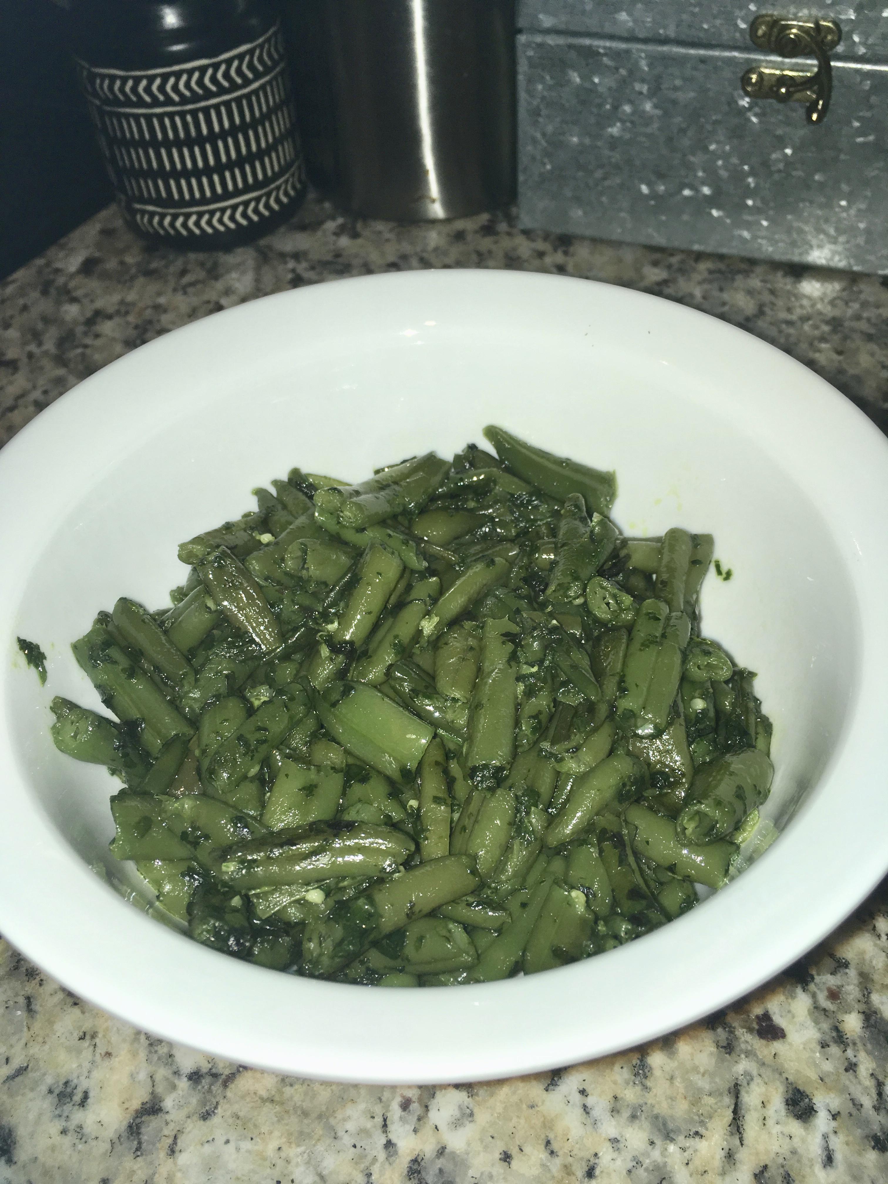 Fasoliyyeh Bi Z-Zayt (Syrian Green Beans with Olive Oil) maureenott214