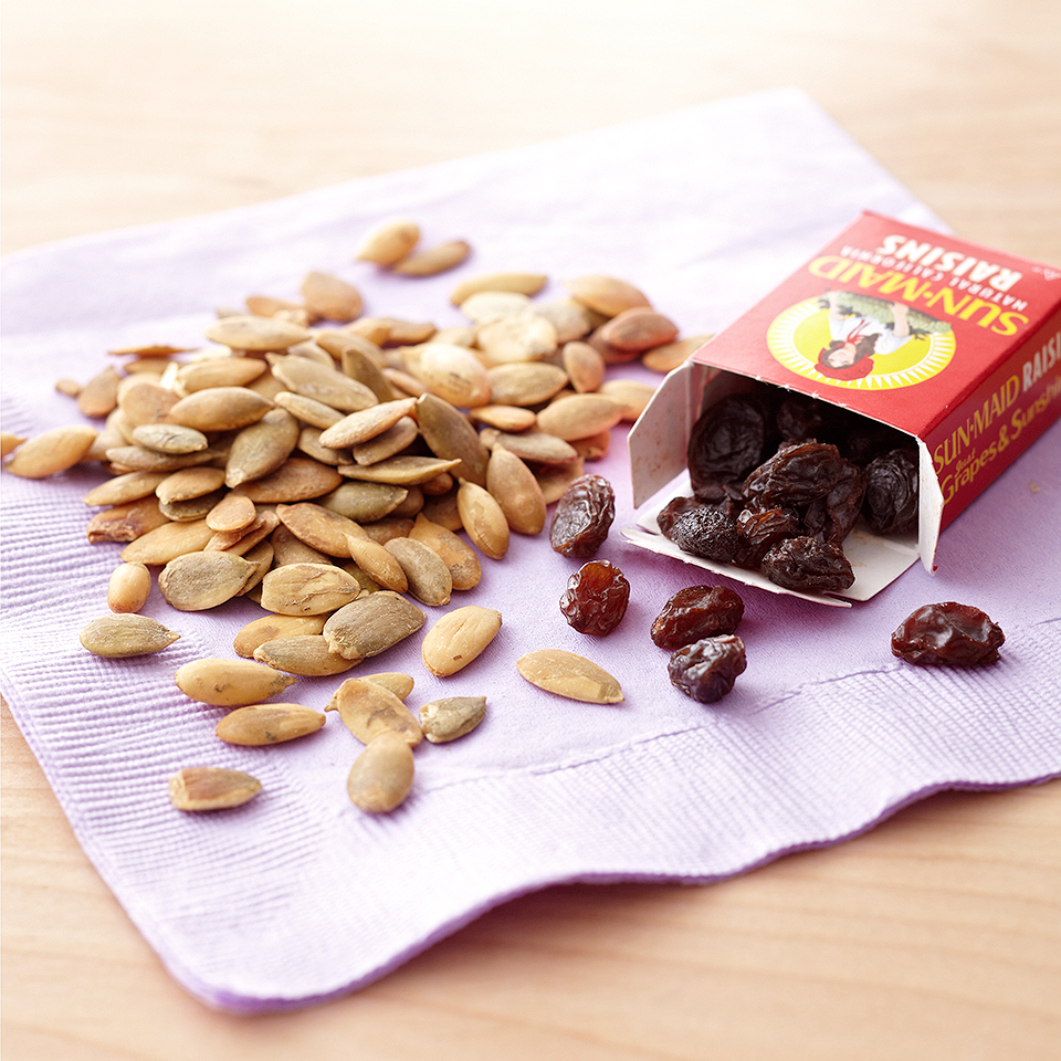 A nut-free take on trail mix, this snack is both sweet and savory.Source: Diabetic Living Magazine