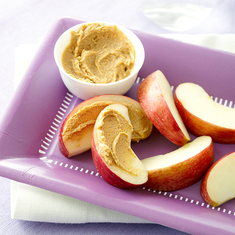 Apple Wedges & Peanut Butter Diabetic Living Magazine