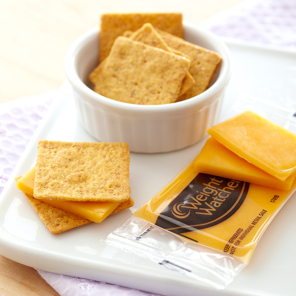 Use reduced-fat crackers and reduced-fat cheese to enjoy an all-time favorite, crackers and cheese, that is still full of flavor. Source: Diabetic Living Magazine