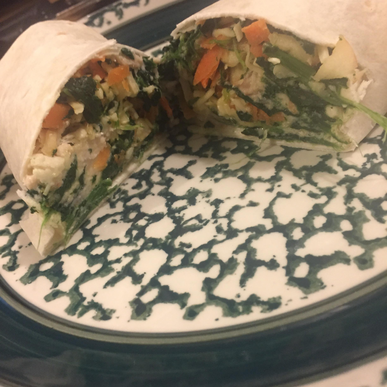 Fruit, Veggie, and Tuna Salad Wrap Ron Tibbetts