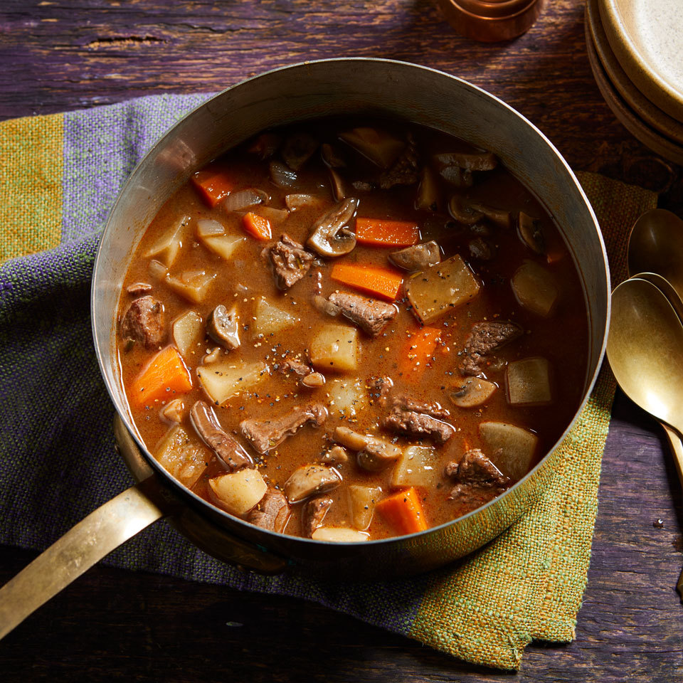 Turnips lend an earthy flavor and a texture that is similar to potatoes--but with fewer carbs--to this rich and flavorful beef stew.