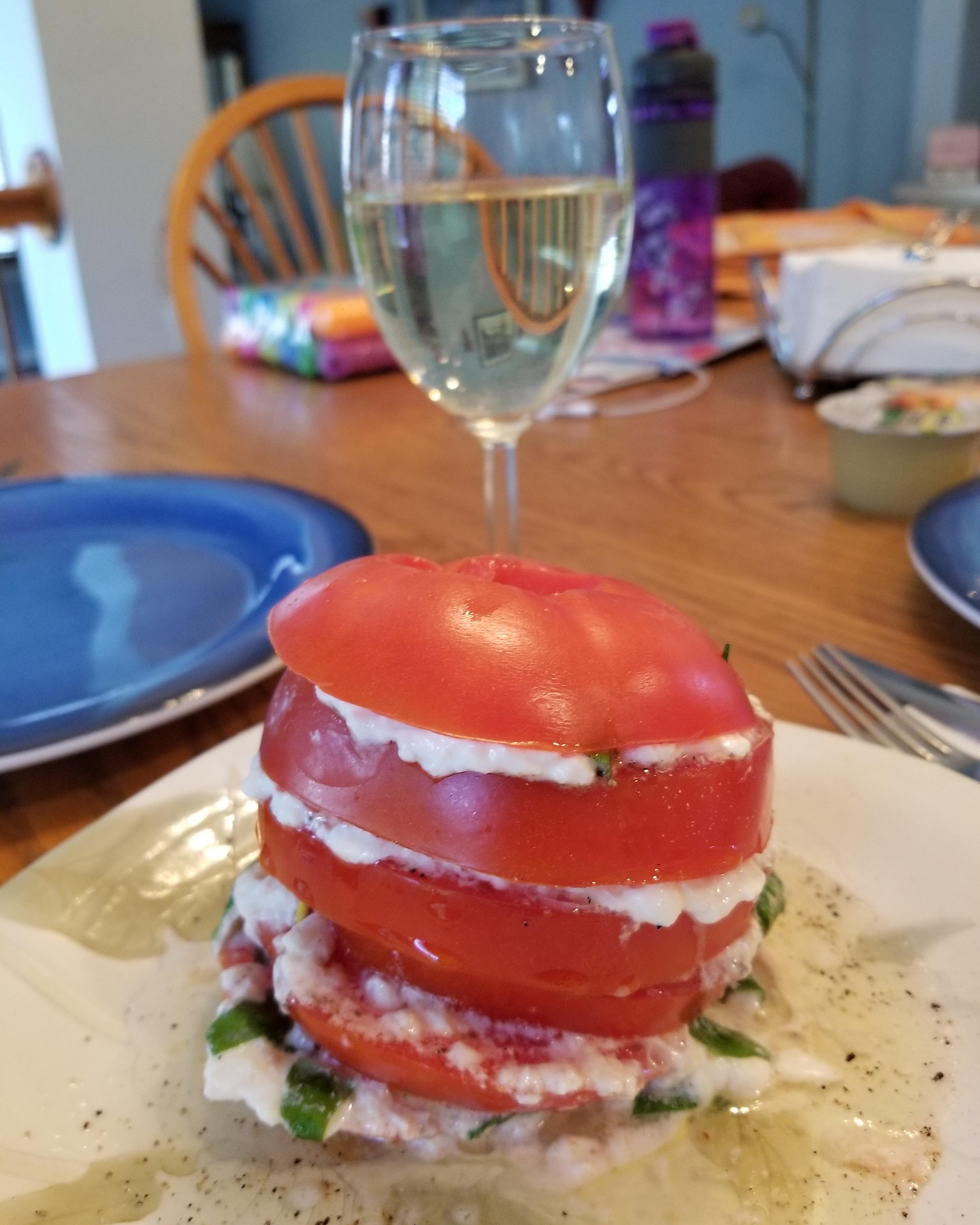 Stacked Tomato and Burrata Salad Terri Grieco Loretoni