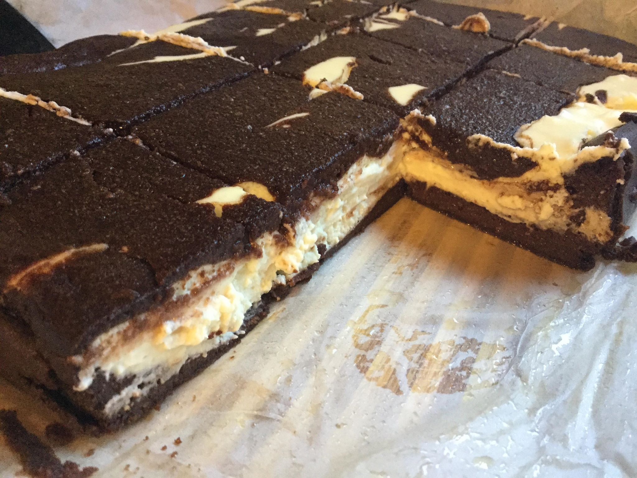 "Recipe creator Nicole Robinson says, ""This cheesecake brownie recipe is for people on the keto diet or anyone with a sweet tooth, for that matter."" Two classic desserts come together to make one keto dieter's decadent treat."