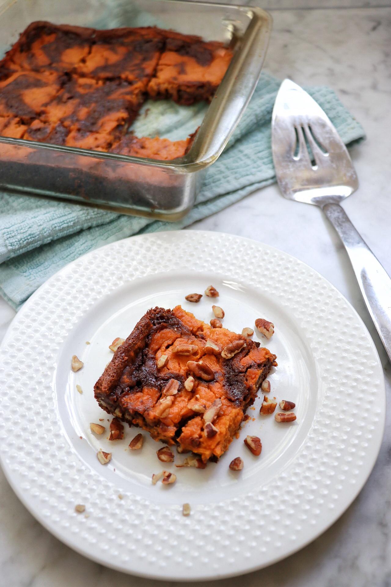 Vegan Pumpkin Brownie fabeveryday