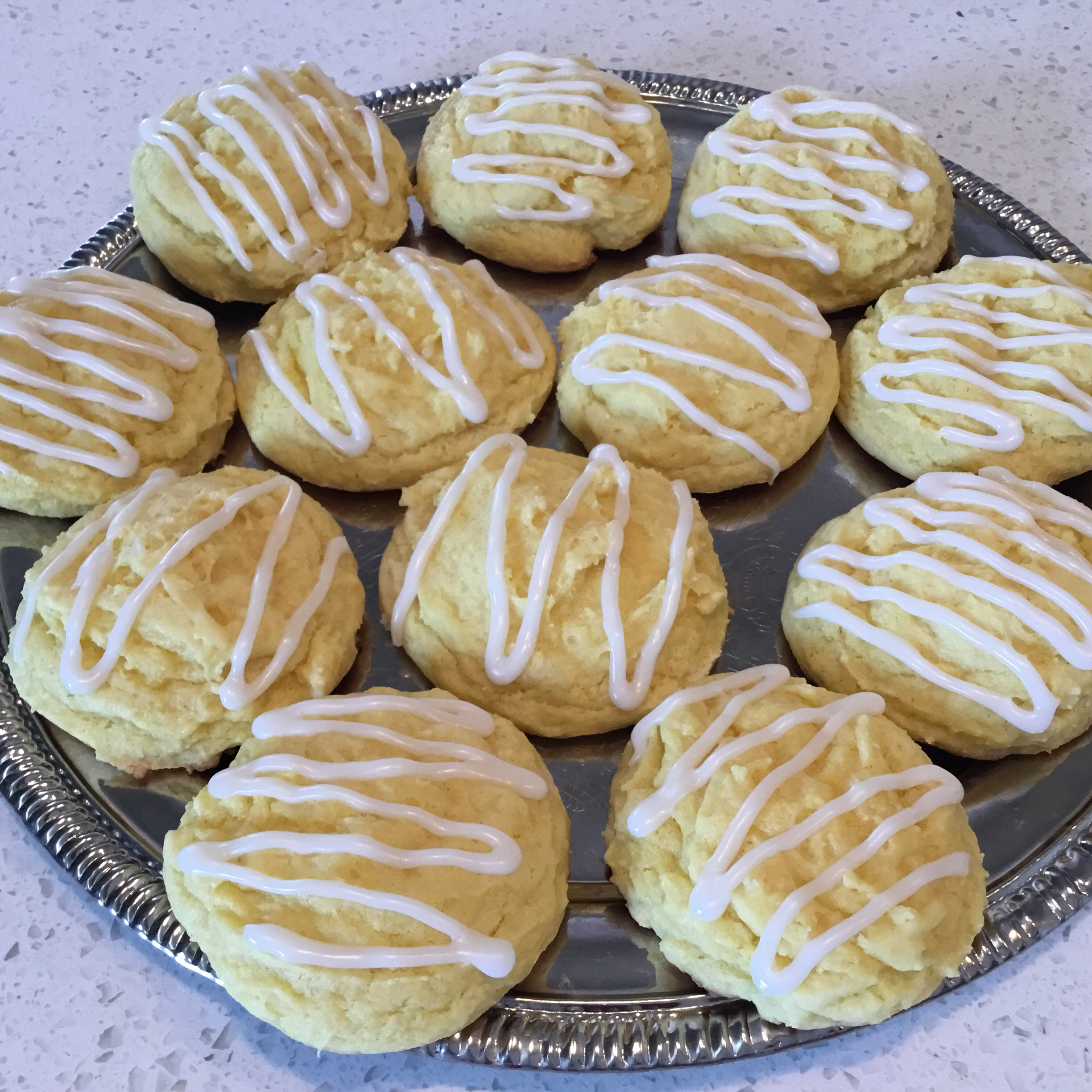 Easy Lemon Cake Cookies with Icing