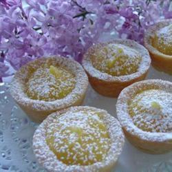 Lemon Butter Tarts Shelly Baker