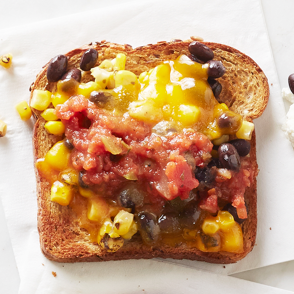 Cheddar and Roasted Corn Toast Diabetic Living Magazine