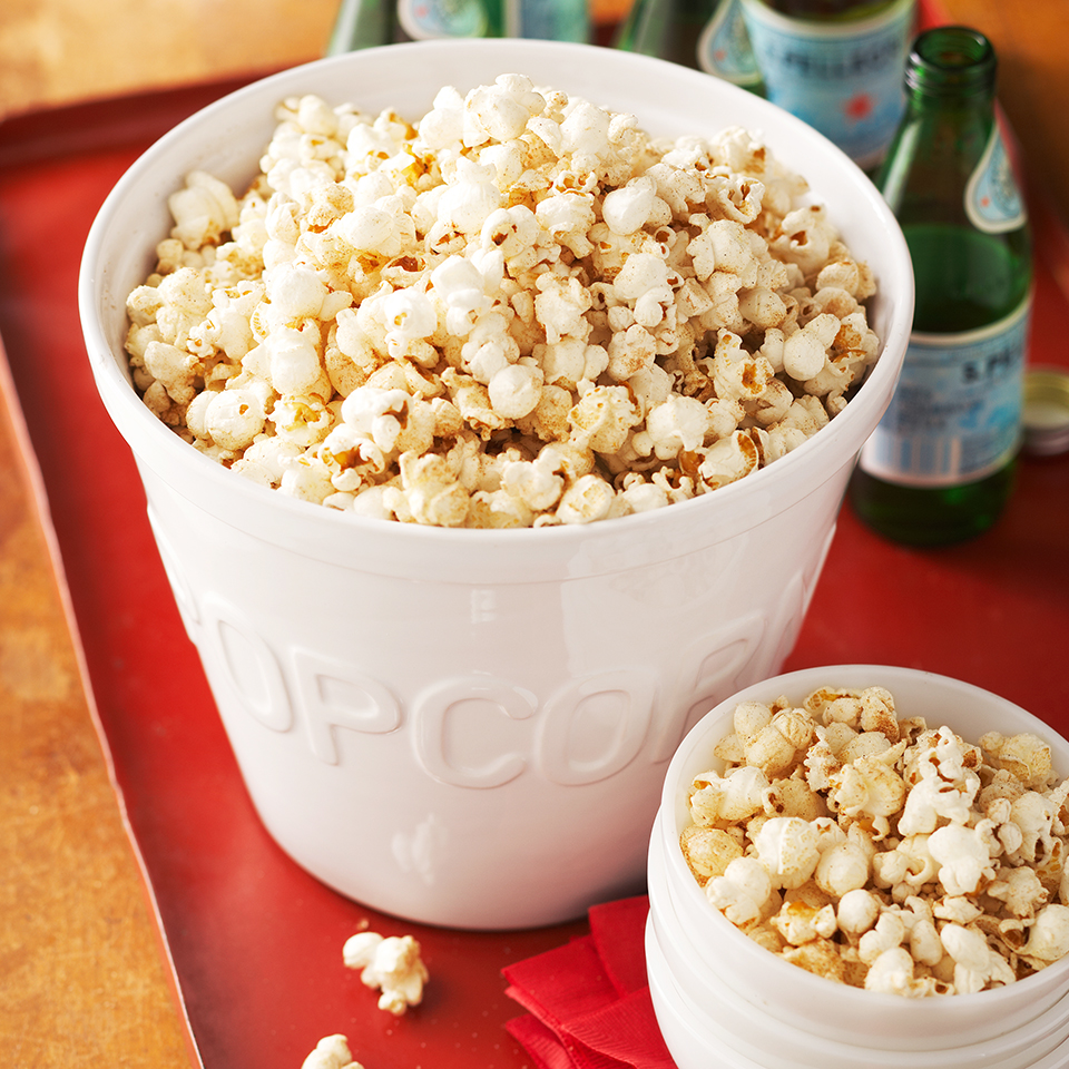 This simple spiced popcorn snack will satisfy your sweet tooth and provide a hearty dose of whole-grains, fiber and antioxidants.
