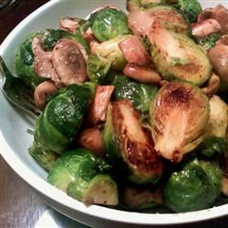 Brussels Sprouts with Mushrooms Kristin Kitahara